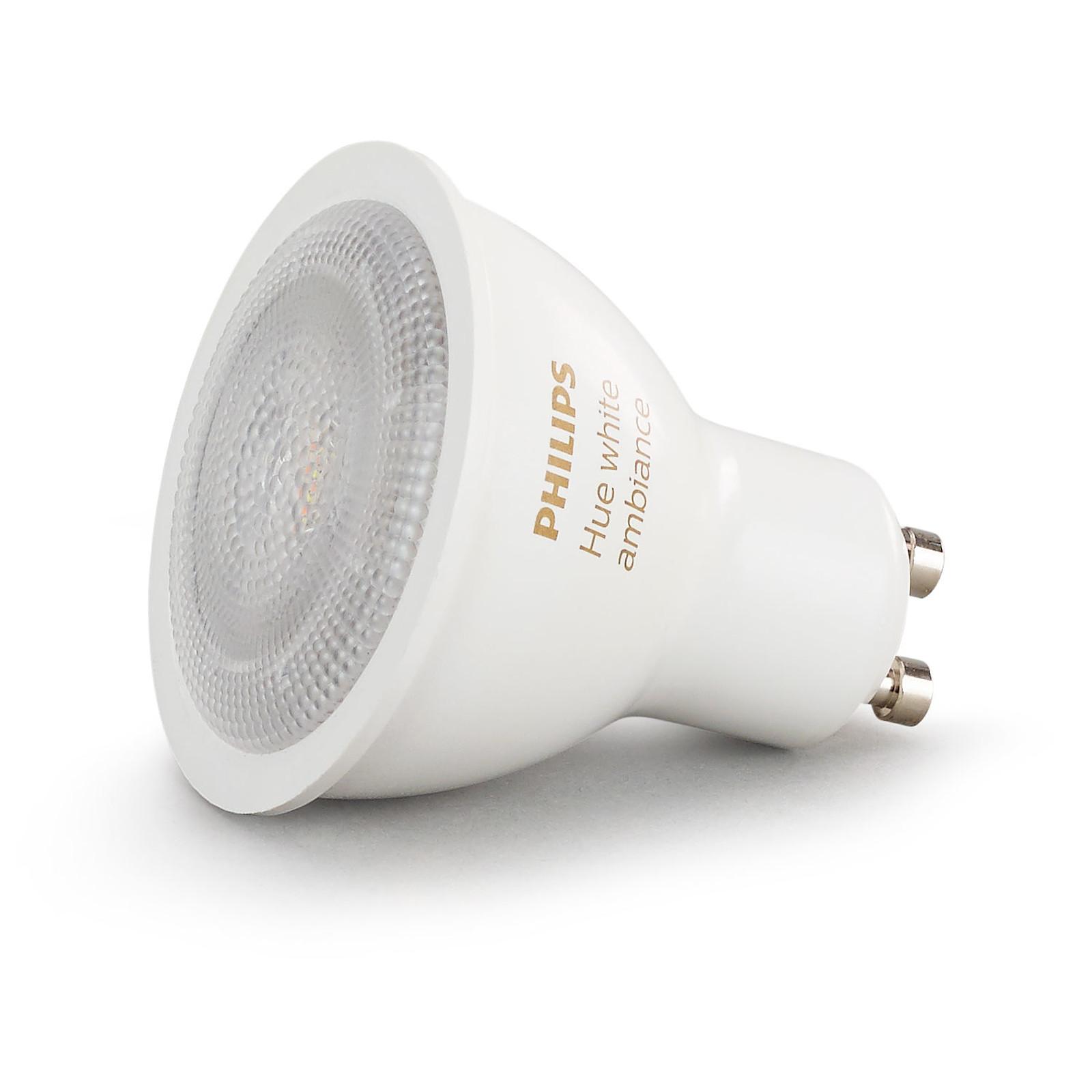 philips hue white ambiance gu10 ampoule connect e. Black Bedroom Furniture Sets. Home Design Ideas