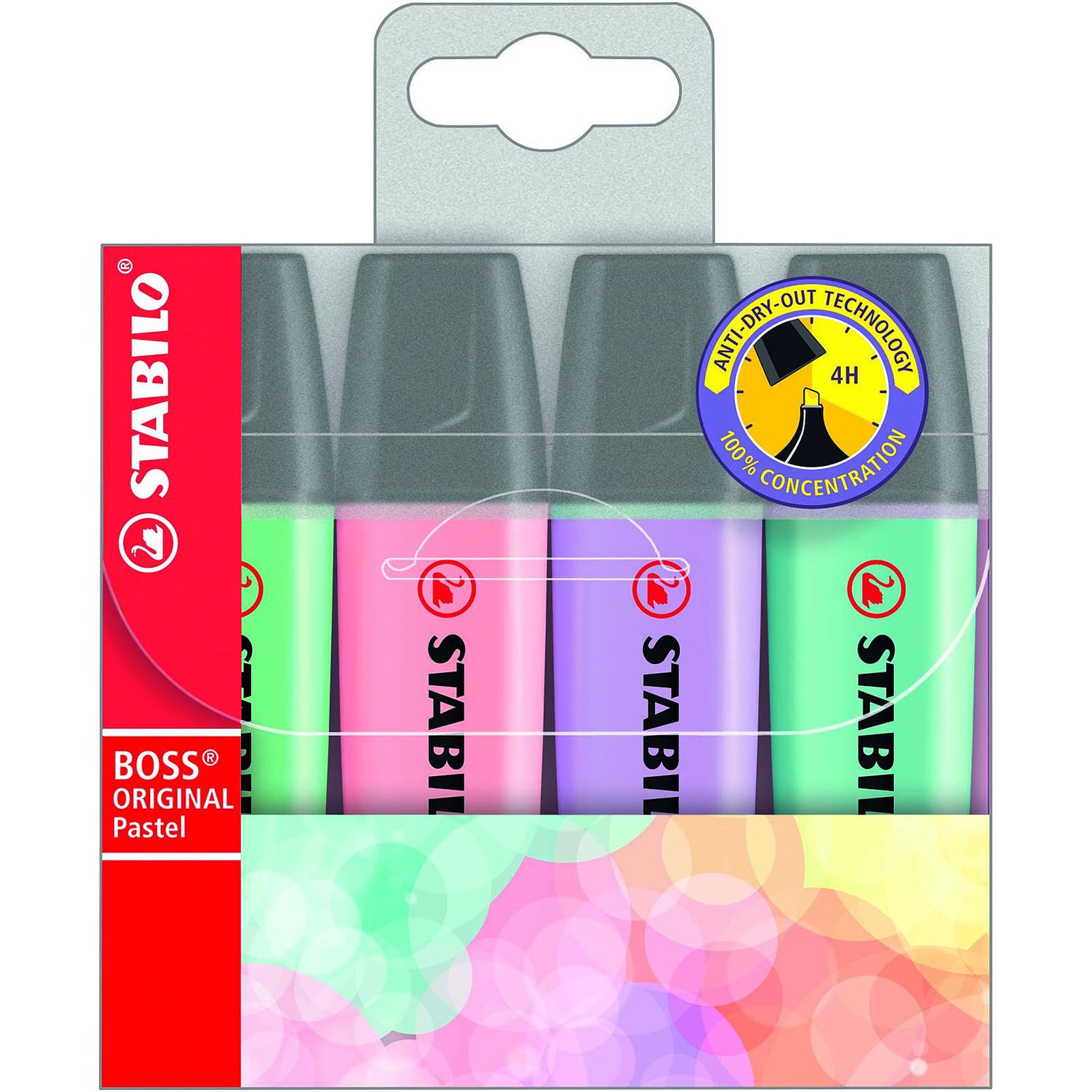 STABILO Boss Original  Pastel pochette de 4 surligneurs assortis