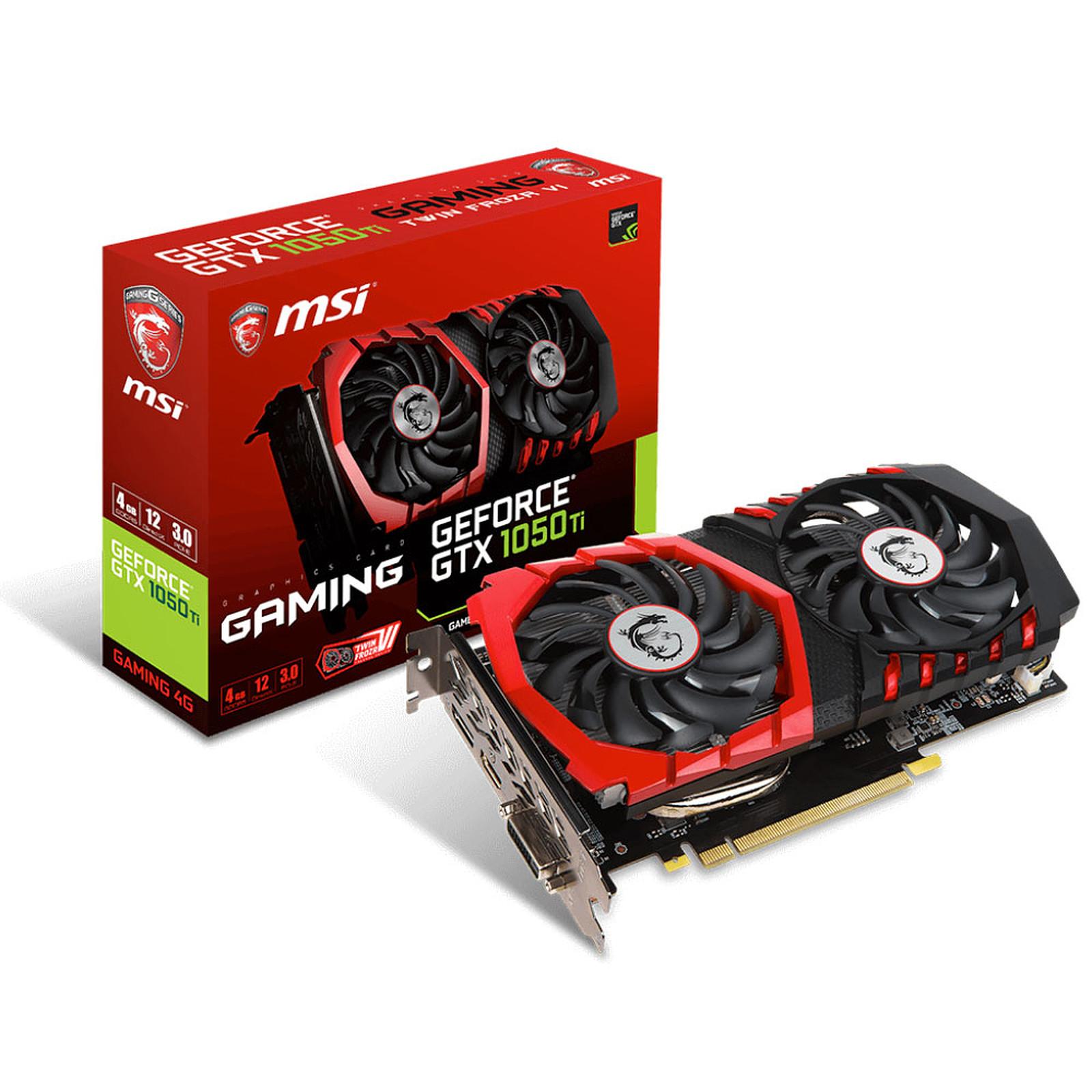 MSI GeForce GTX 1050 Ti GAMING 4G