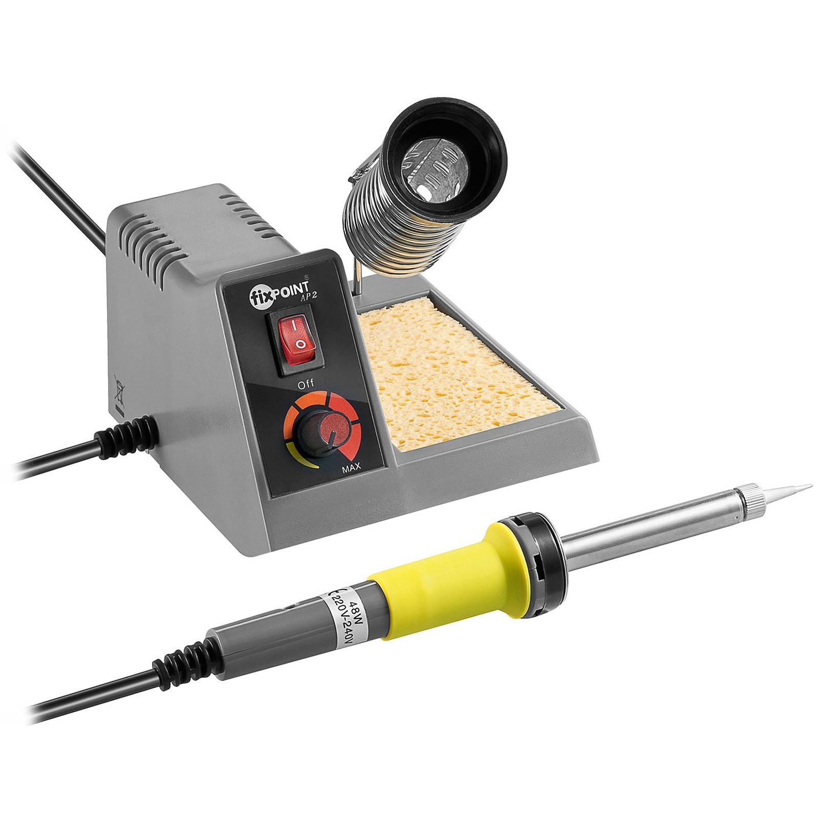 Station de soudure analogique (fer + support avec réglage analogique + éponge)