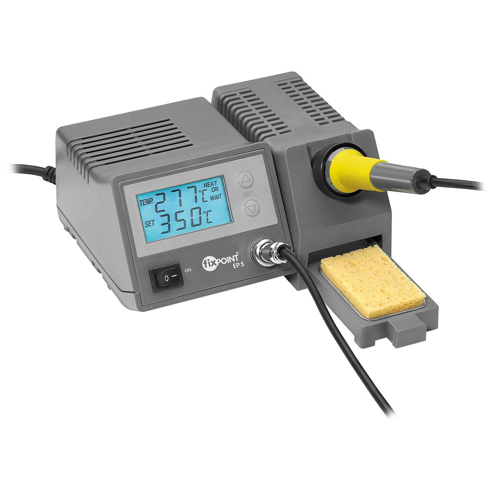 Station de soudure numérique (fer + support avec réglage numérique + éponge)