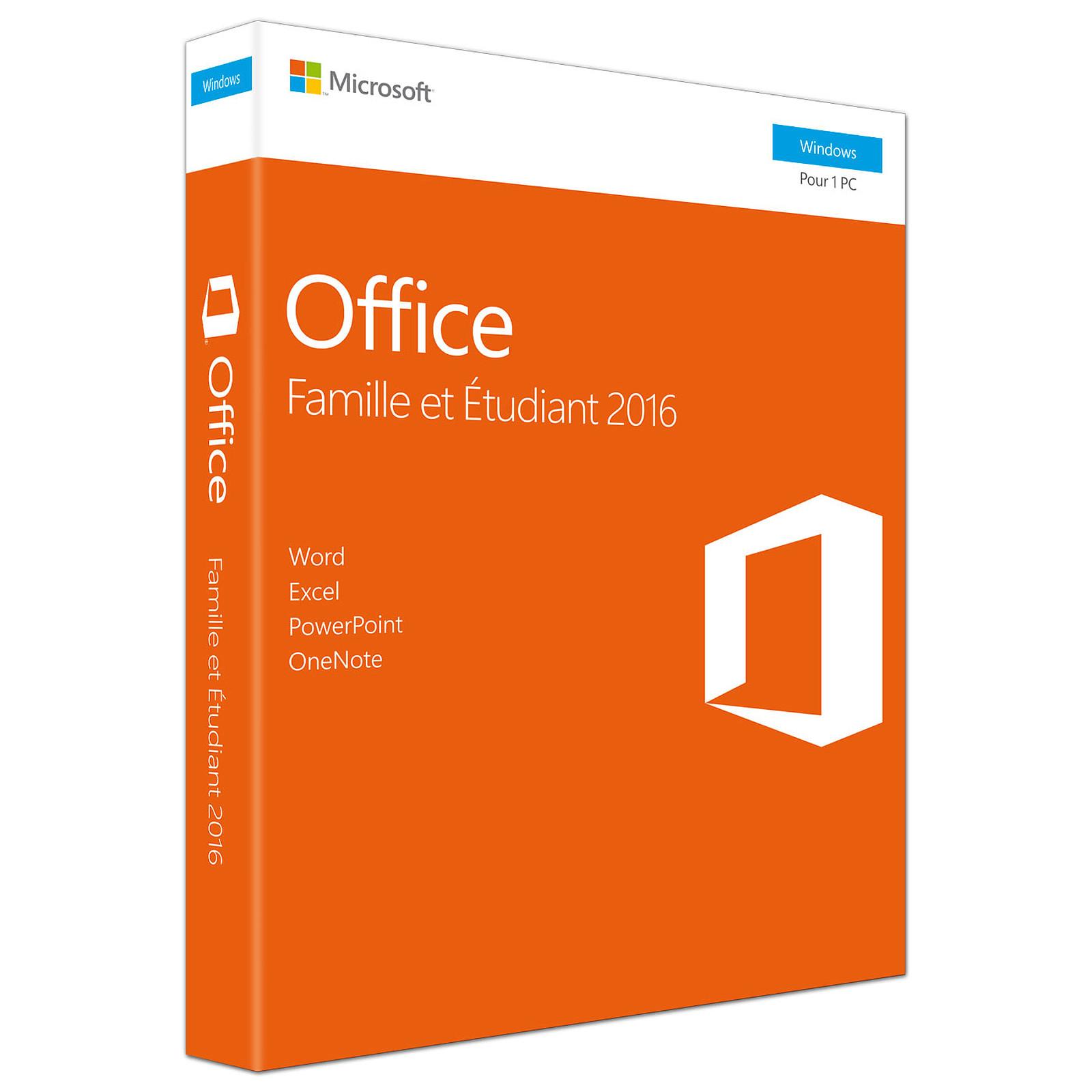 Microsoft Office Famille Et Etudiant 2016