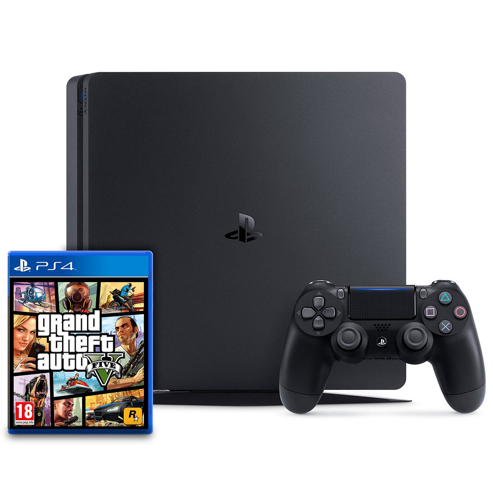 Sony PlayStation 4 Slim (1 To) + Grand Theft Auto V (GTA 5)