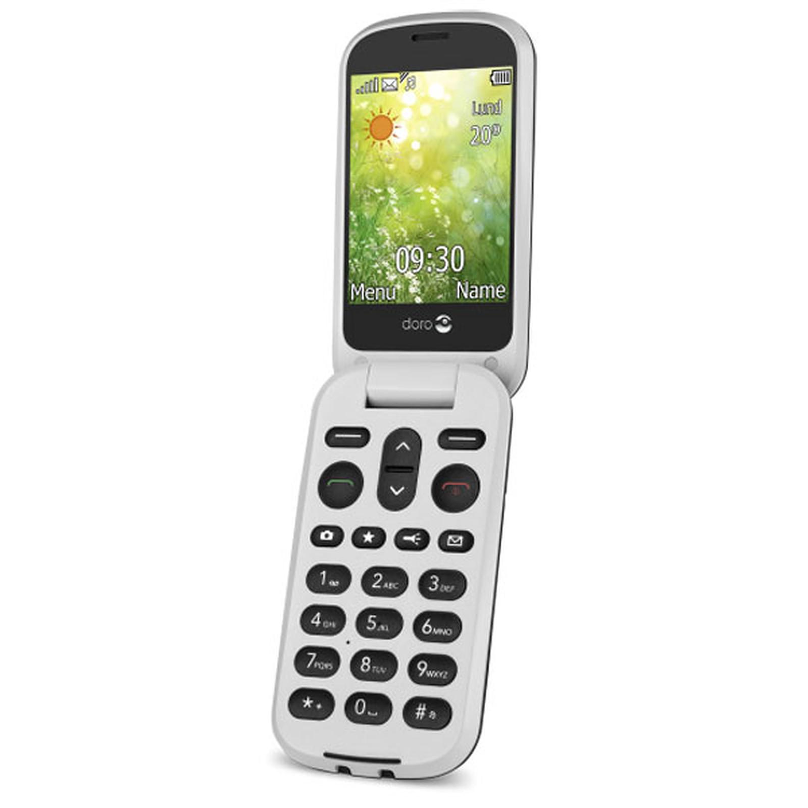doro 6050 graphite blanc mobile smartphone doro sur. Black Bedroom Furniture Sets. Home Design Ideas