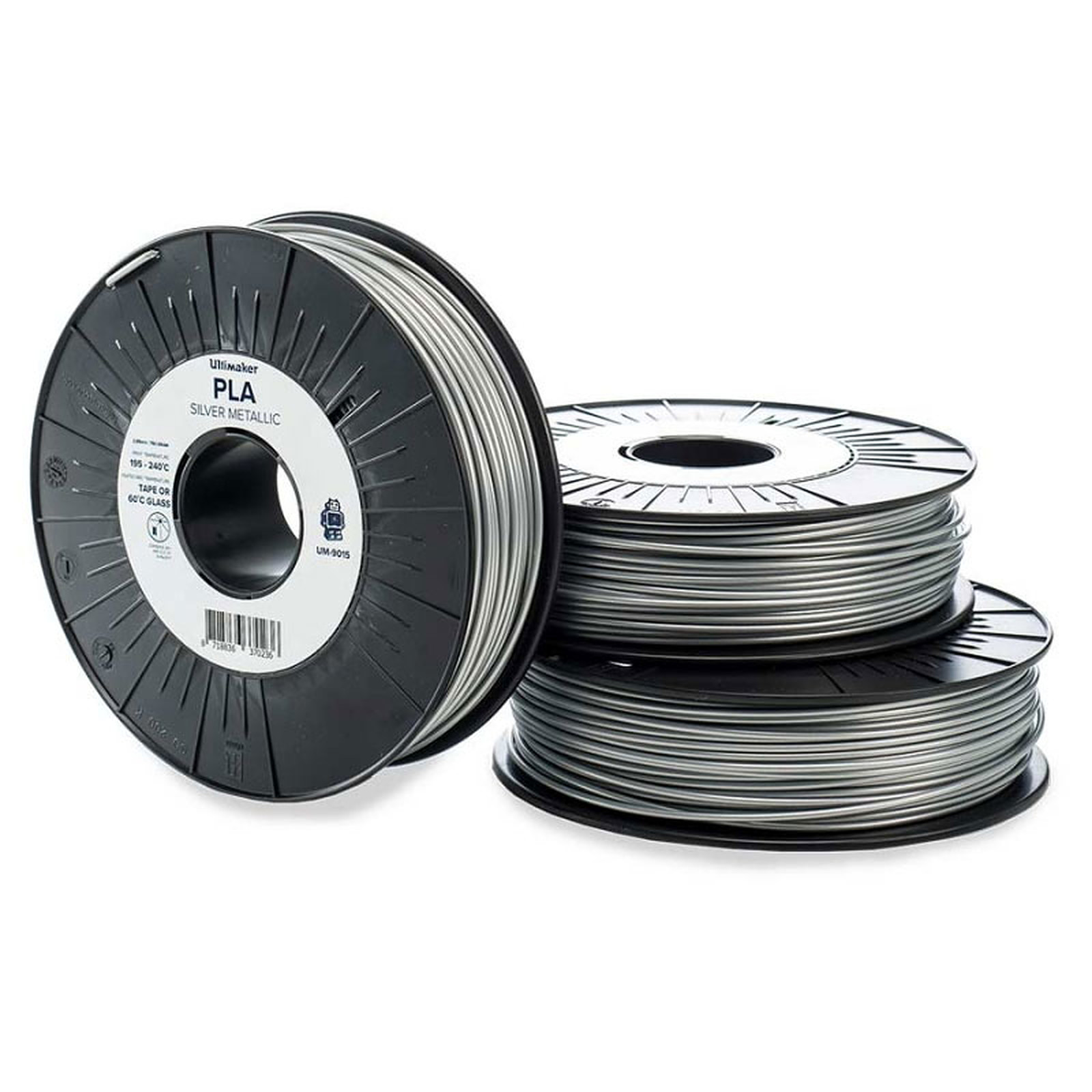 Ultimaker PLA Argent 750g