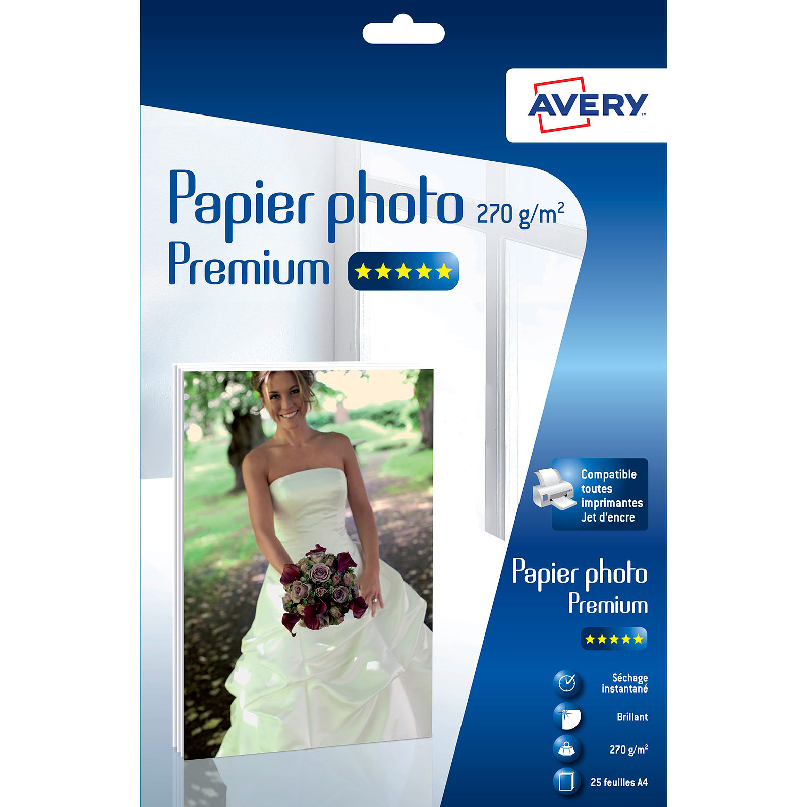 Avery Papier photo brillant premium A4 (25 feuilles)