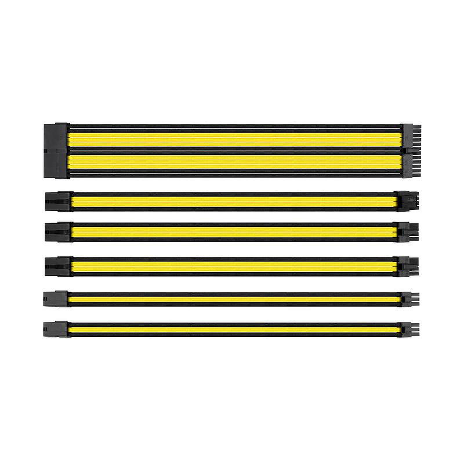 Thermaltake TtMod Sleeve Cable (Extension Câble Tressé) - Jaune et Noir