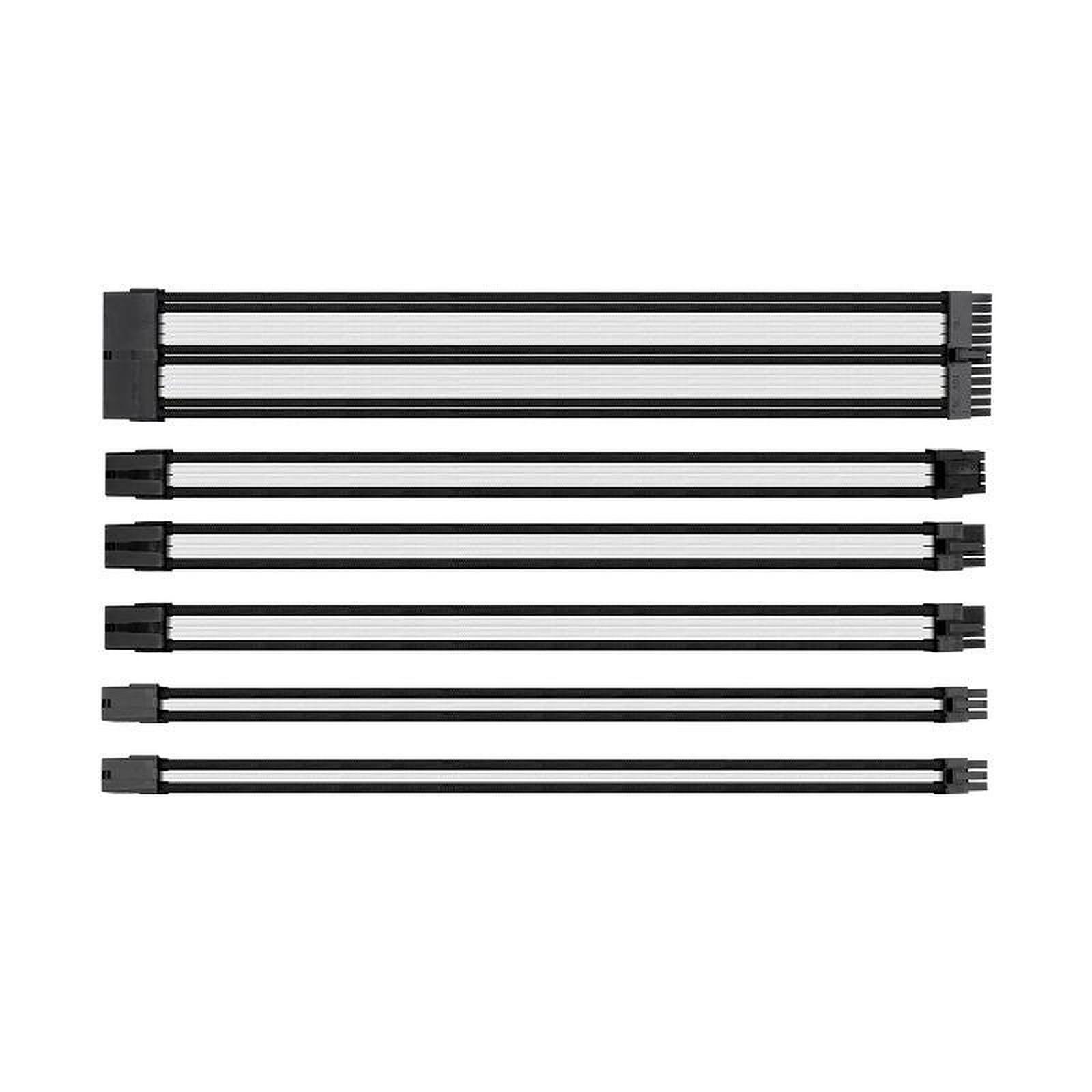 Thermaltake TtMod Sleeve Cable (Extension Câble Tressé) - Blanc et Noir