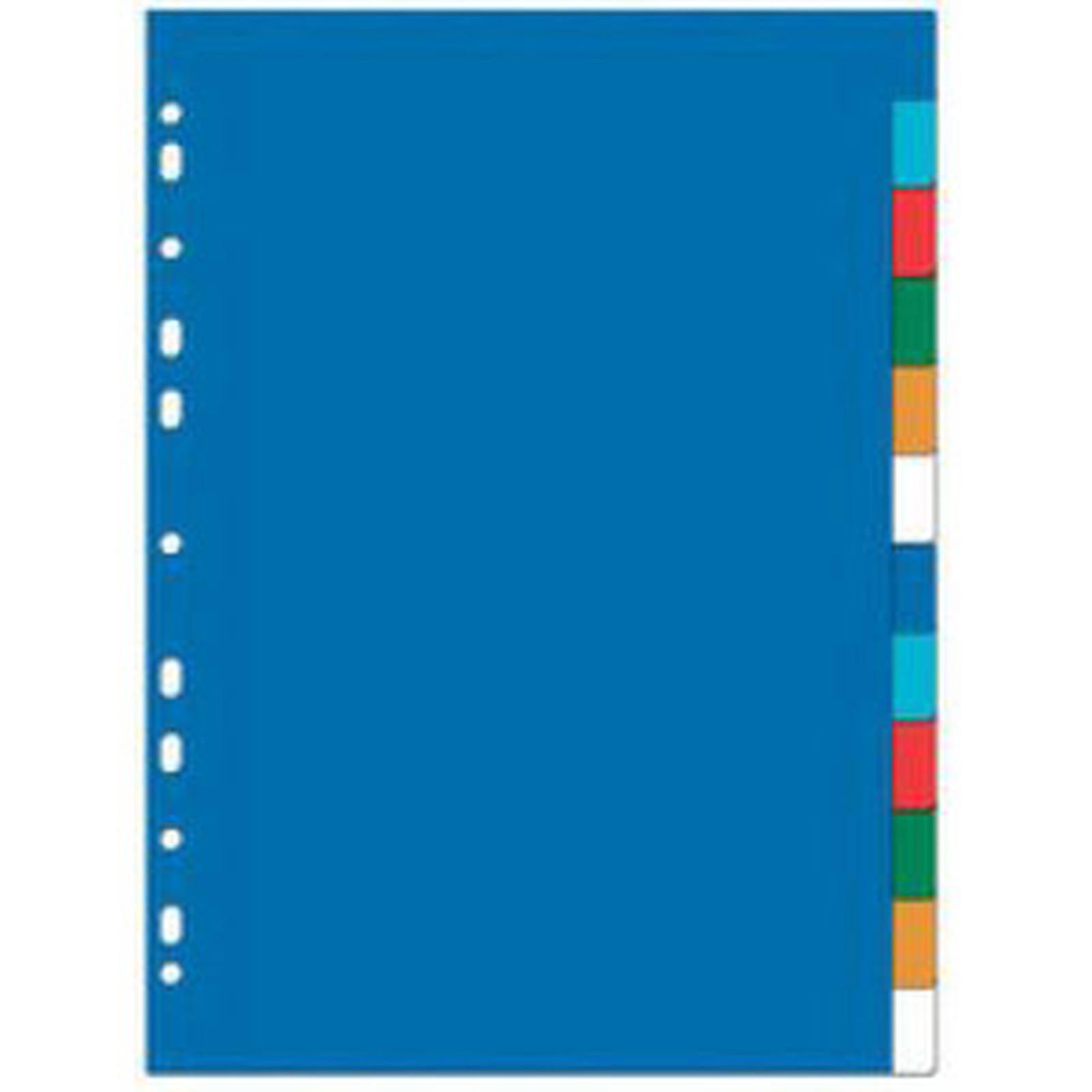 Intercalaires polypropylène Format A4+ 12 positions