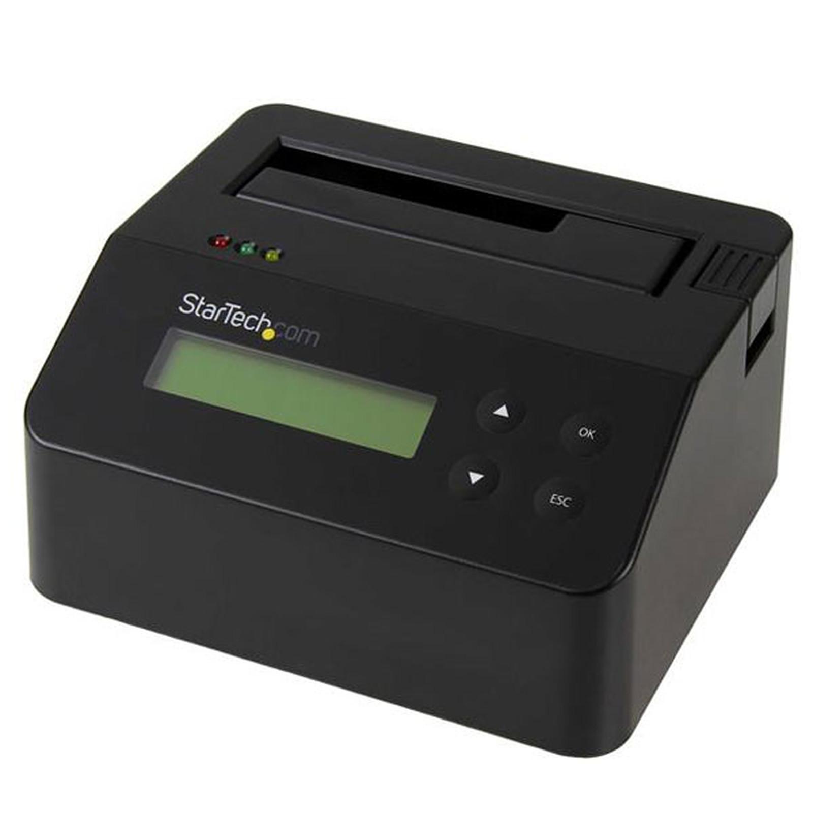 """StarTech.com Station d'accueil et effaceur USB 3.0 autonome pour disque dur SATA de 2,5"""" et 3,5"""""""