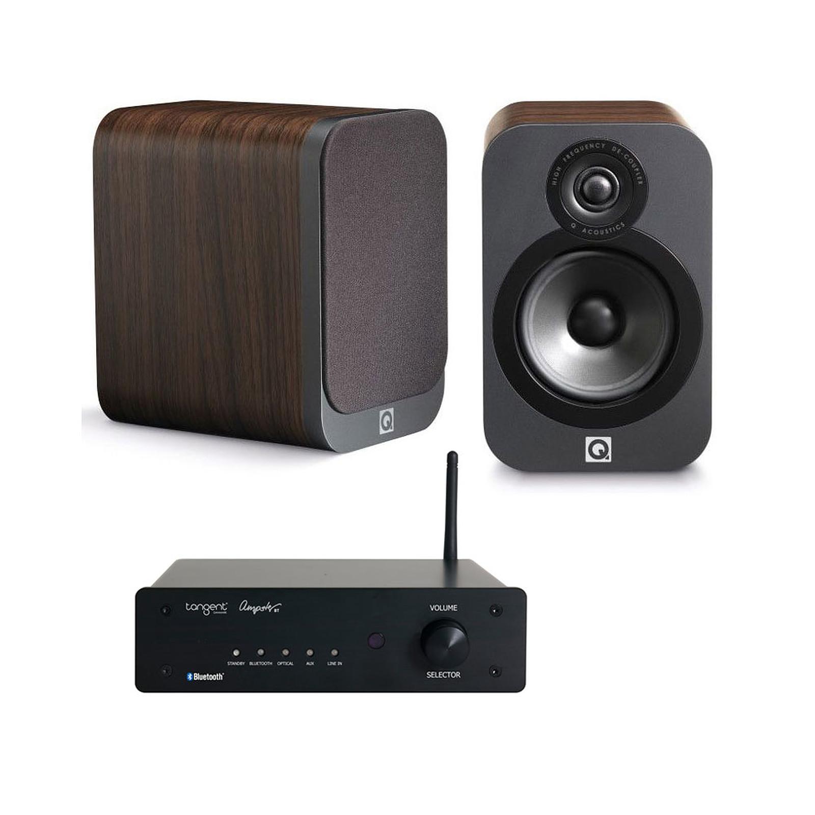Tangent Ampster BT + Q Acoustics 3020 Bois