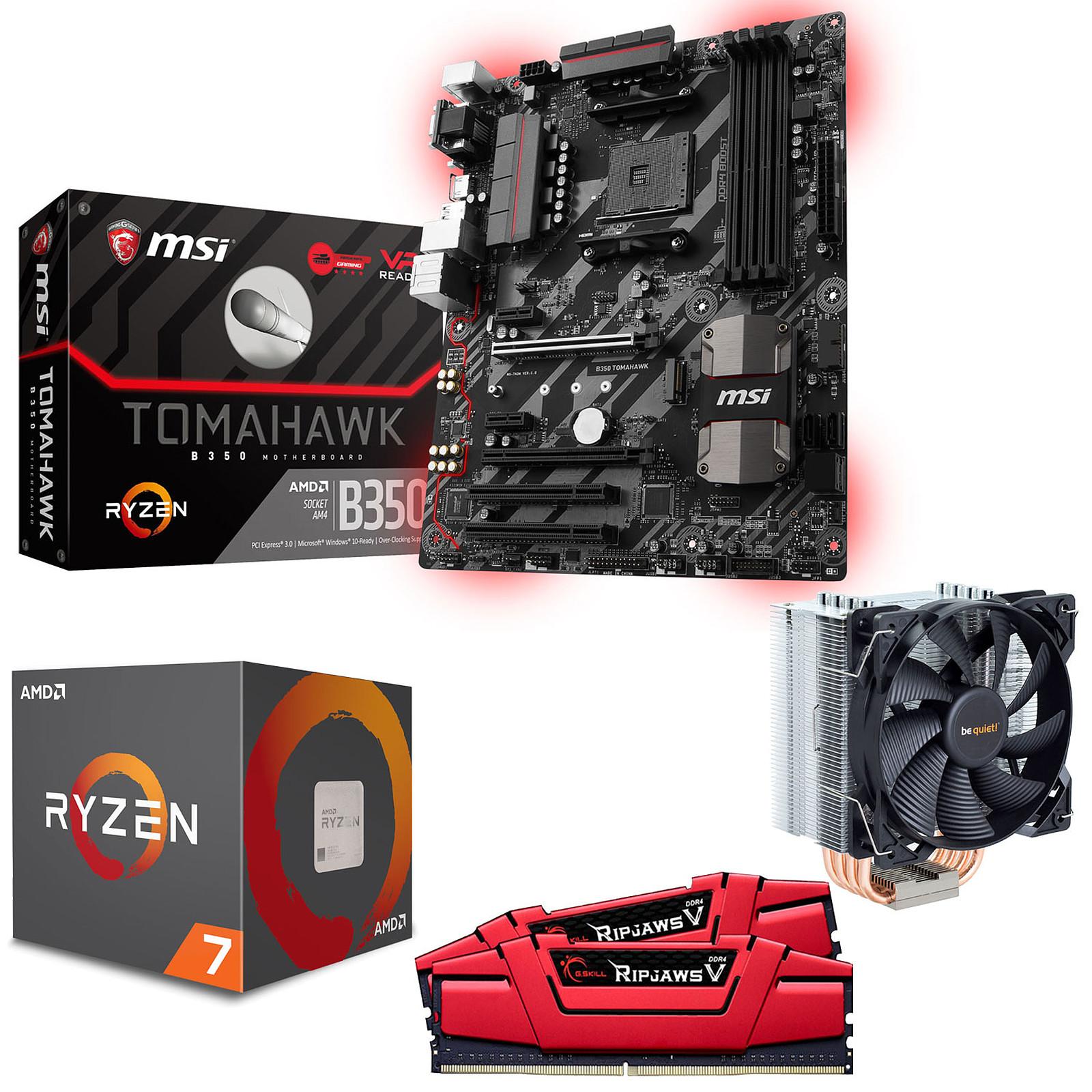 Kit Upgrade PC AMD Ryzen 7 1700X MSI B350 TOMAHAWK 16 Go