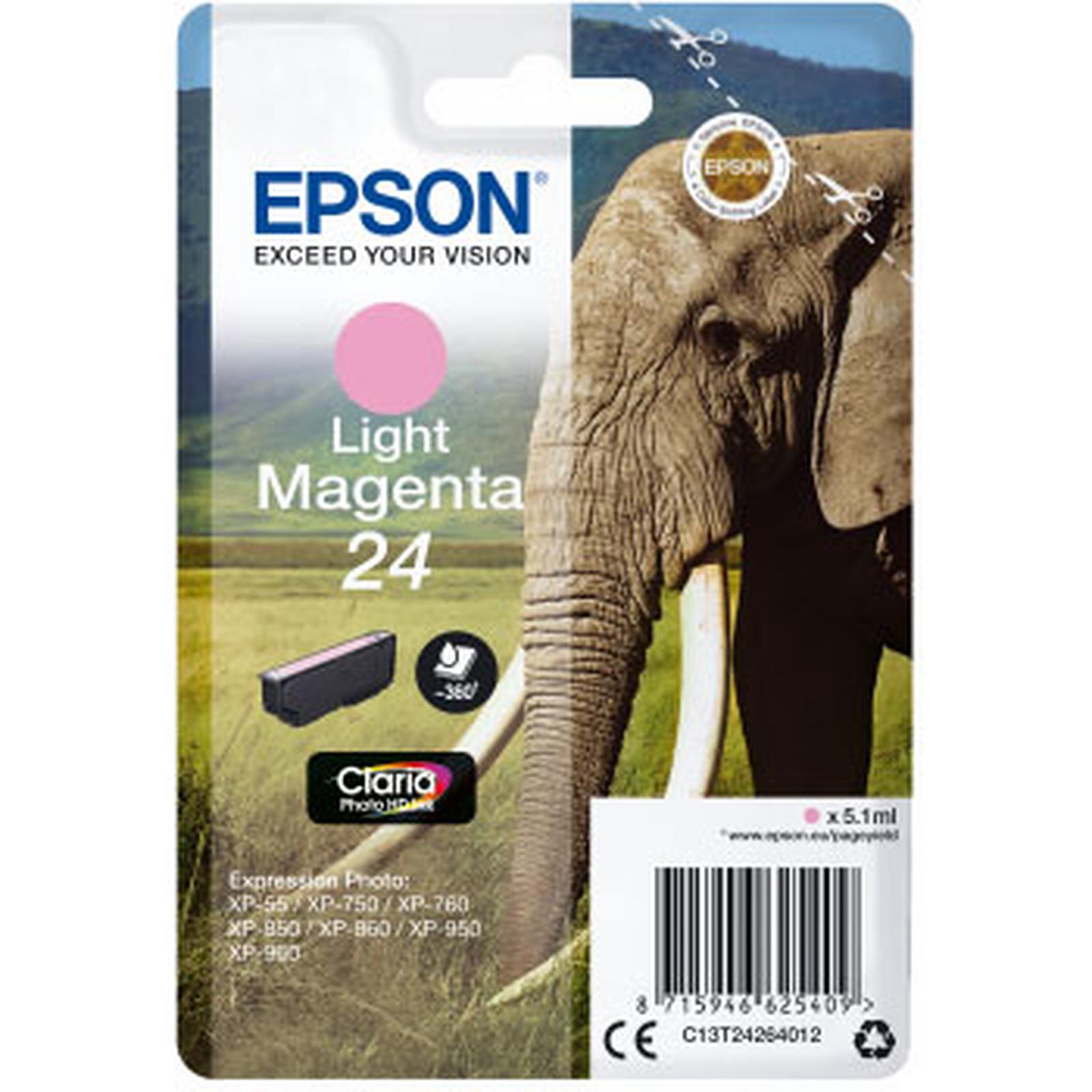 Epson Elephant 24 Magenta Clair