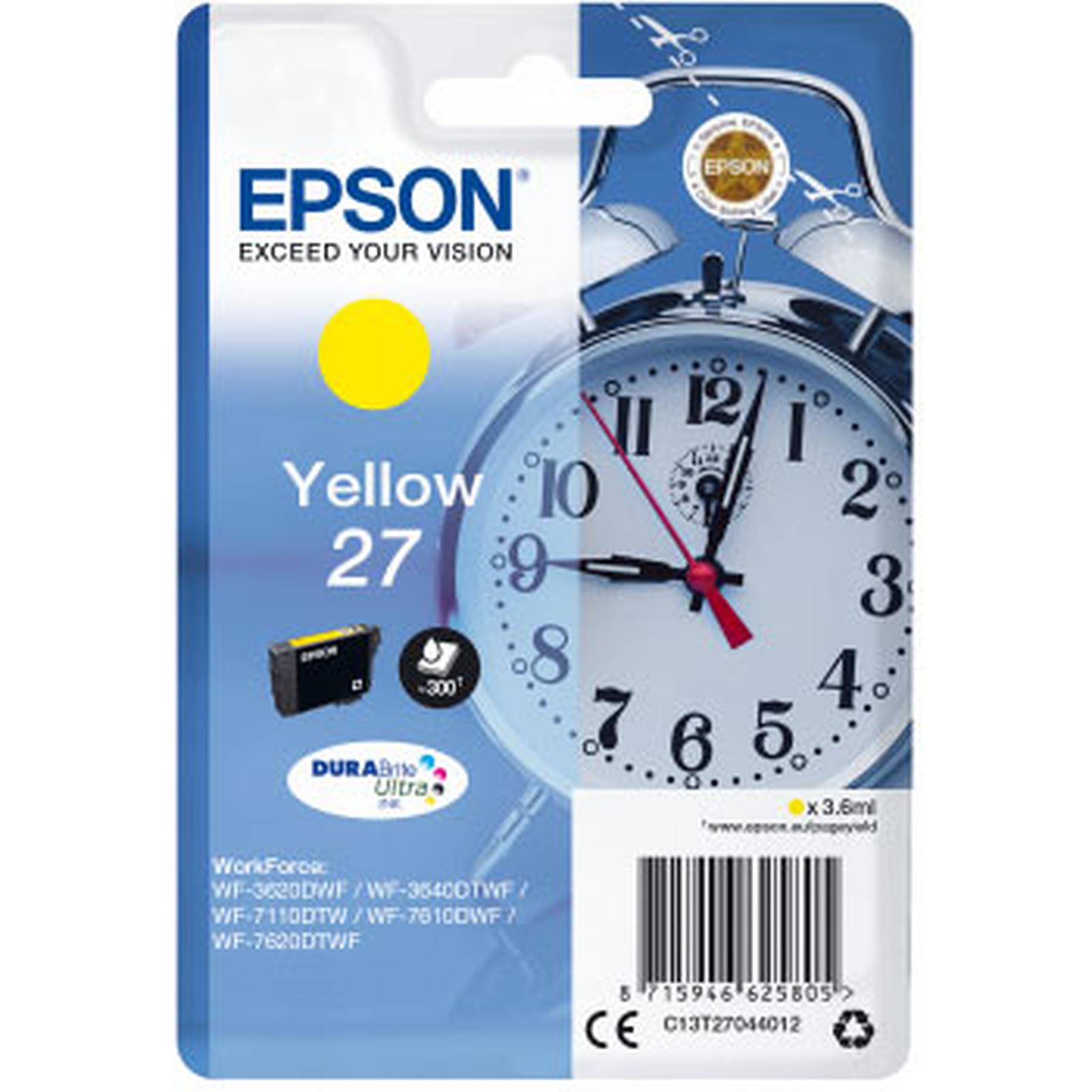 Epson Réveil 27 Jaune