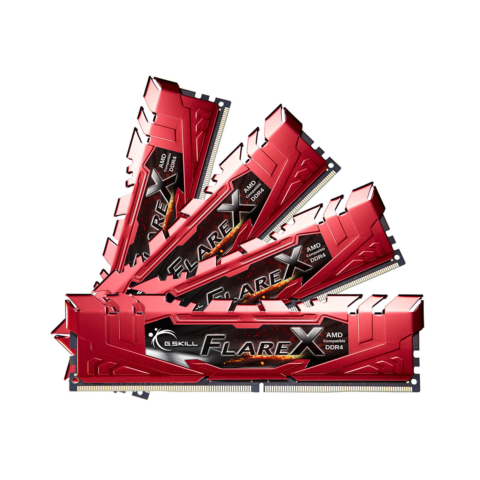 G.Skill Flare X Series Rouge 64 Go (4x 16 Go) DDR4 2400 MHz CL16