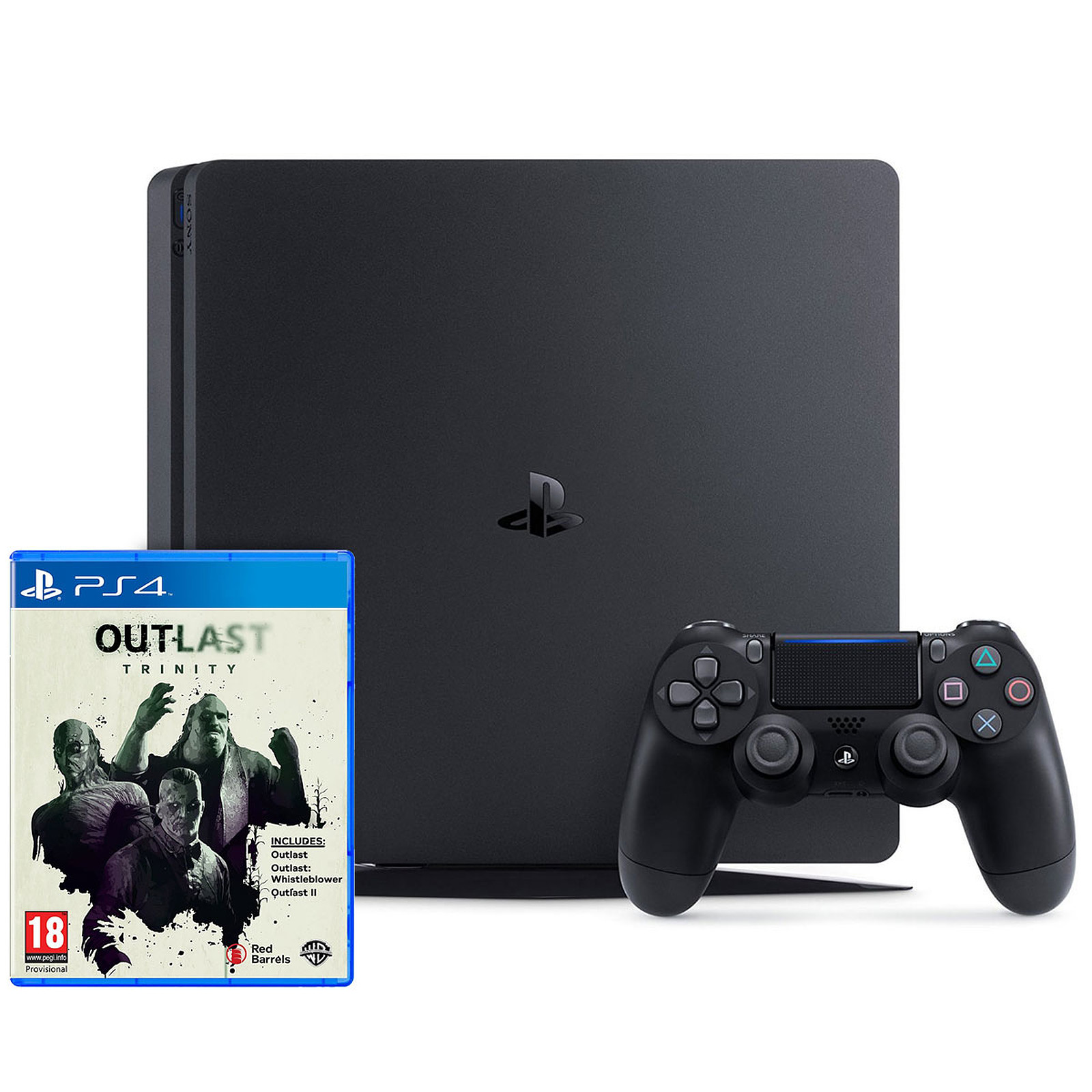 Sony Playstation 4 Slim 500 Go Outlast Trinity Console Ps4