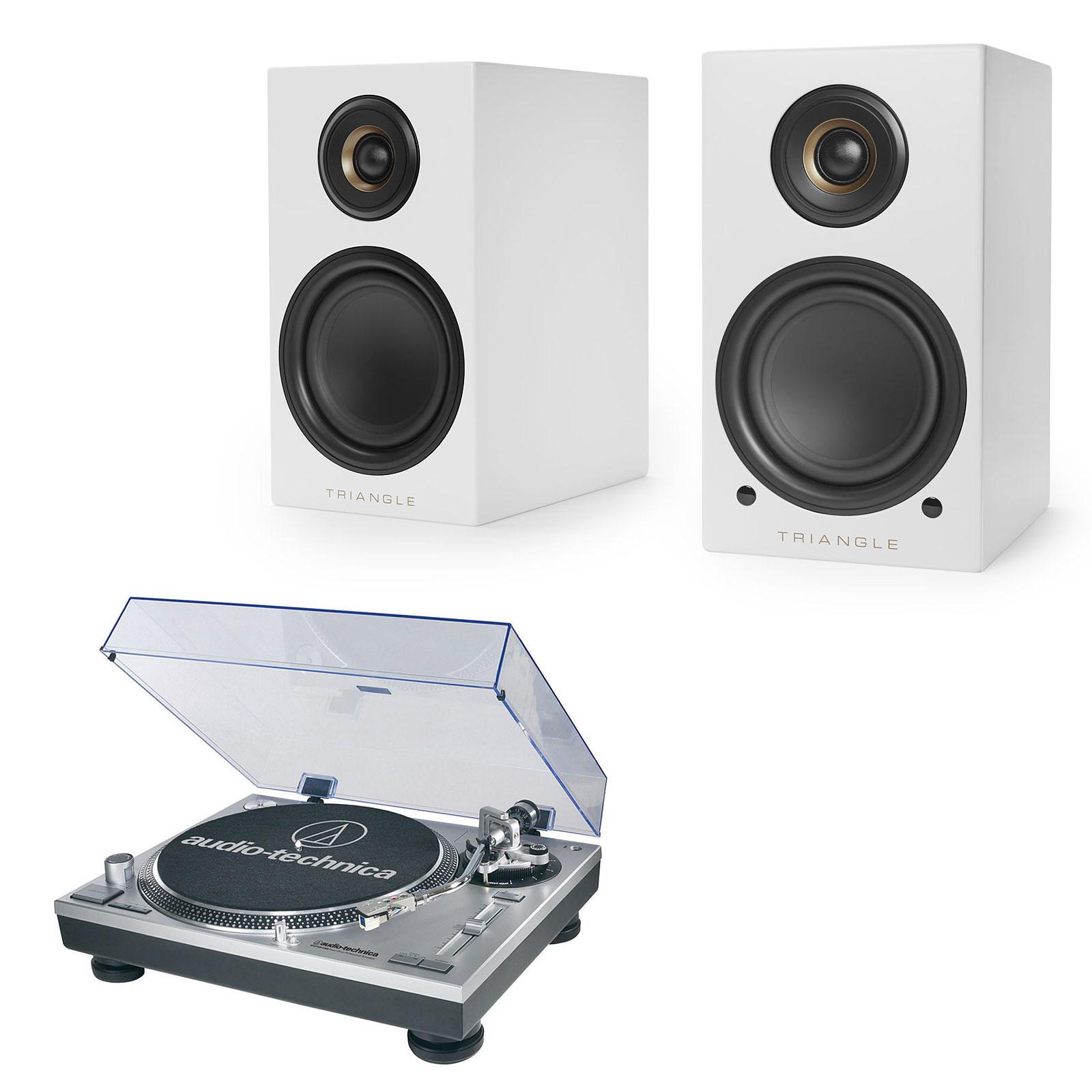 Audio-Technica AT-LP120USBHC + Triangle Elara LN01A Blanc mat