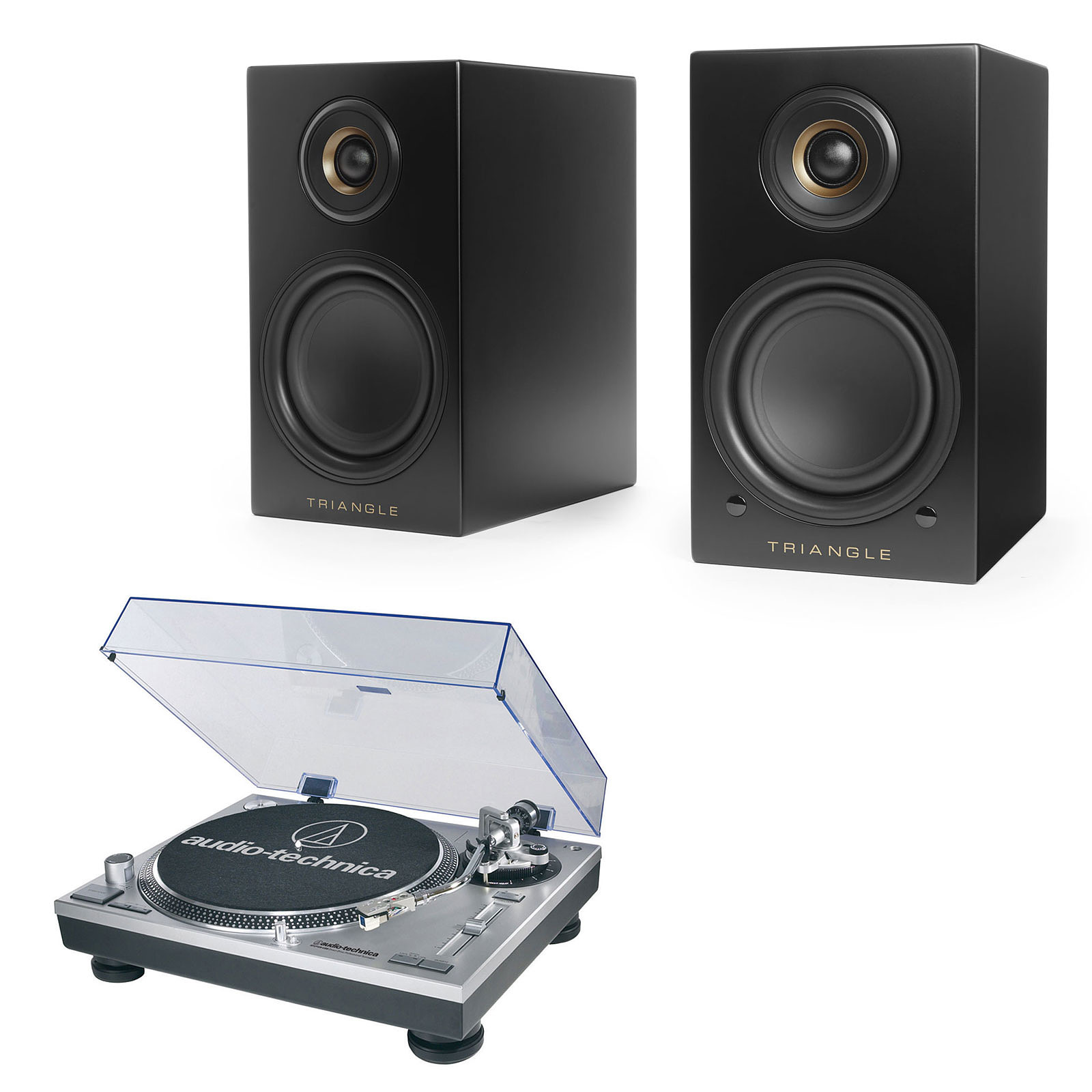 Audio-Technica AT-LP120USBHC + Triangle Elara LN01A Noir mat