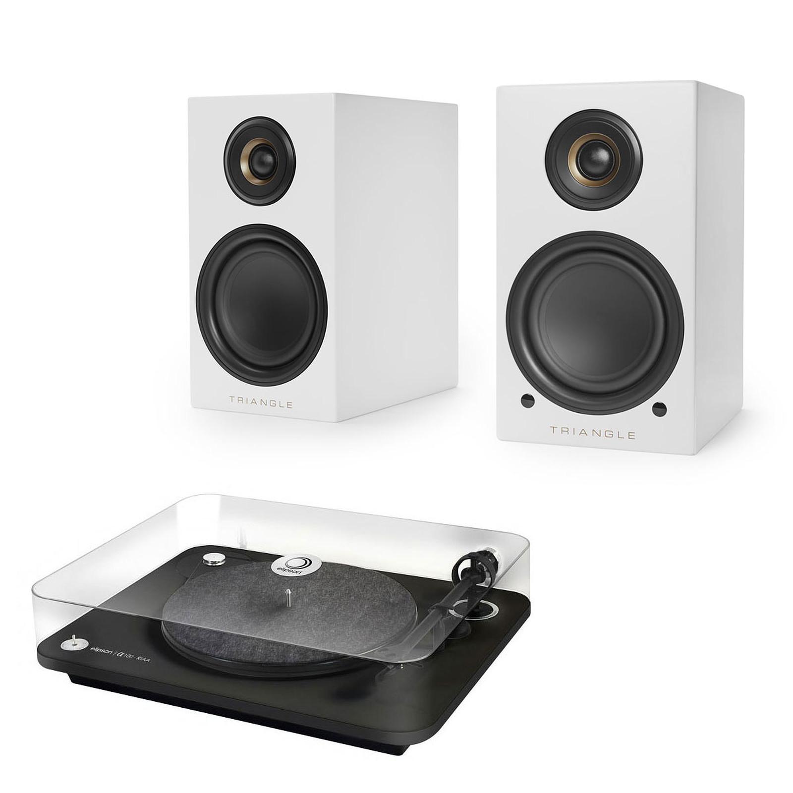 Elipson Alpha 100 RIAA Noir + Triangle Elara LN01A Blanc mat