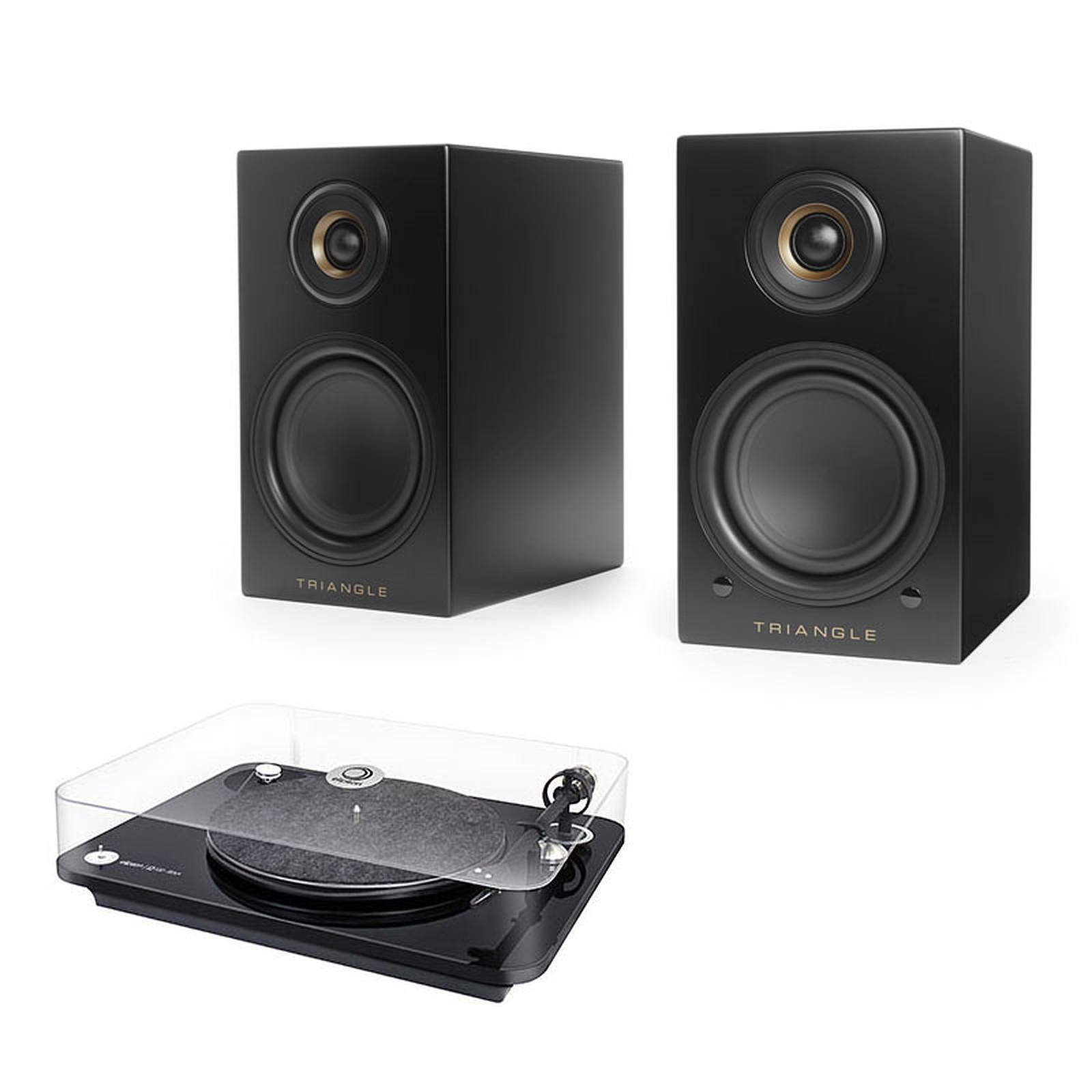 Elipson Omega 100 RIAA Noir + Triangle Elara LN01A Noir mat