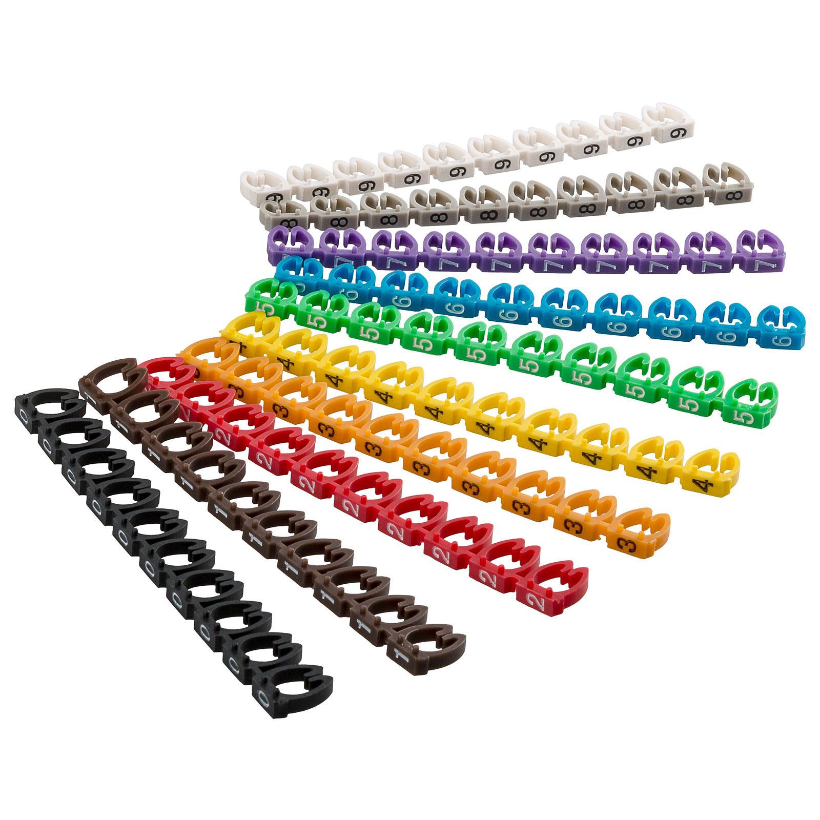 Goobay Clips pour câble 6 mm (0-9)