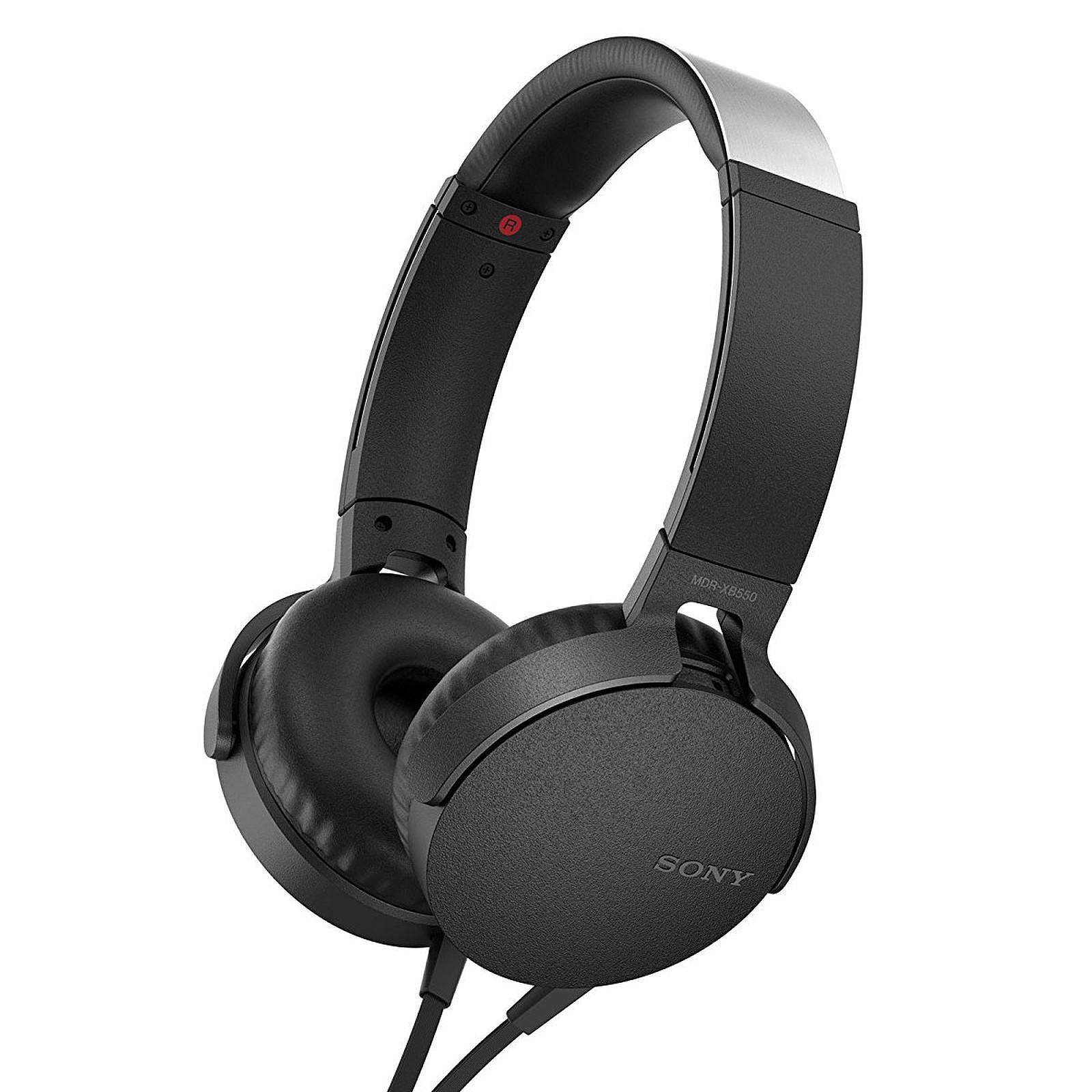 60f8d37726d Sony MDR-XB550AP Noir Casque supra-auriculaire fermé avec télécommande et  micro ...