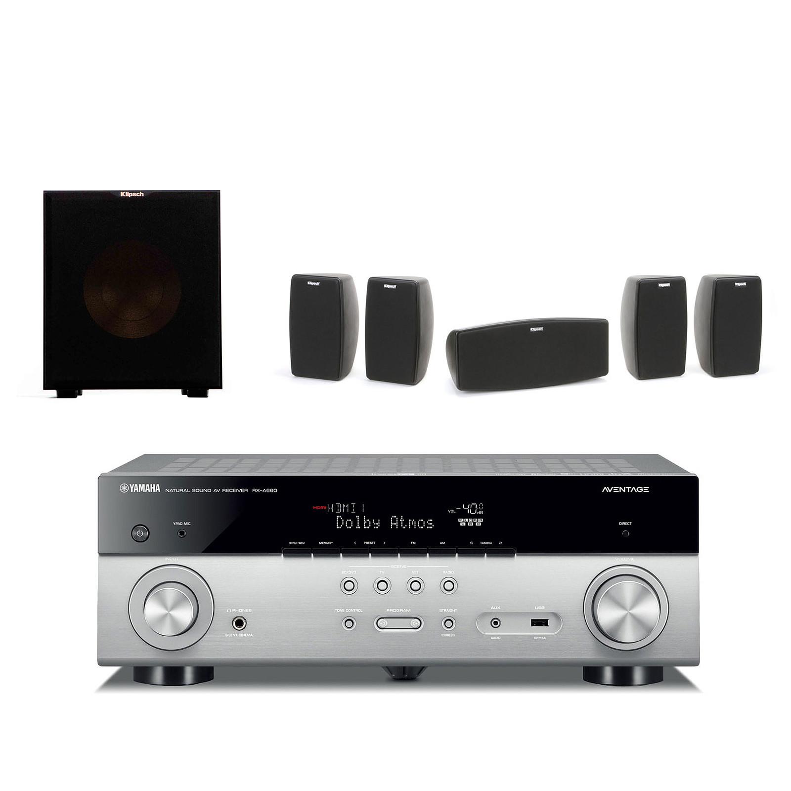Yamaha MusicCast RX-A660 Titane + Klipsch Quintet + Klipsch R-10SW