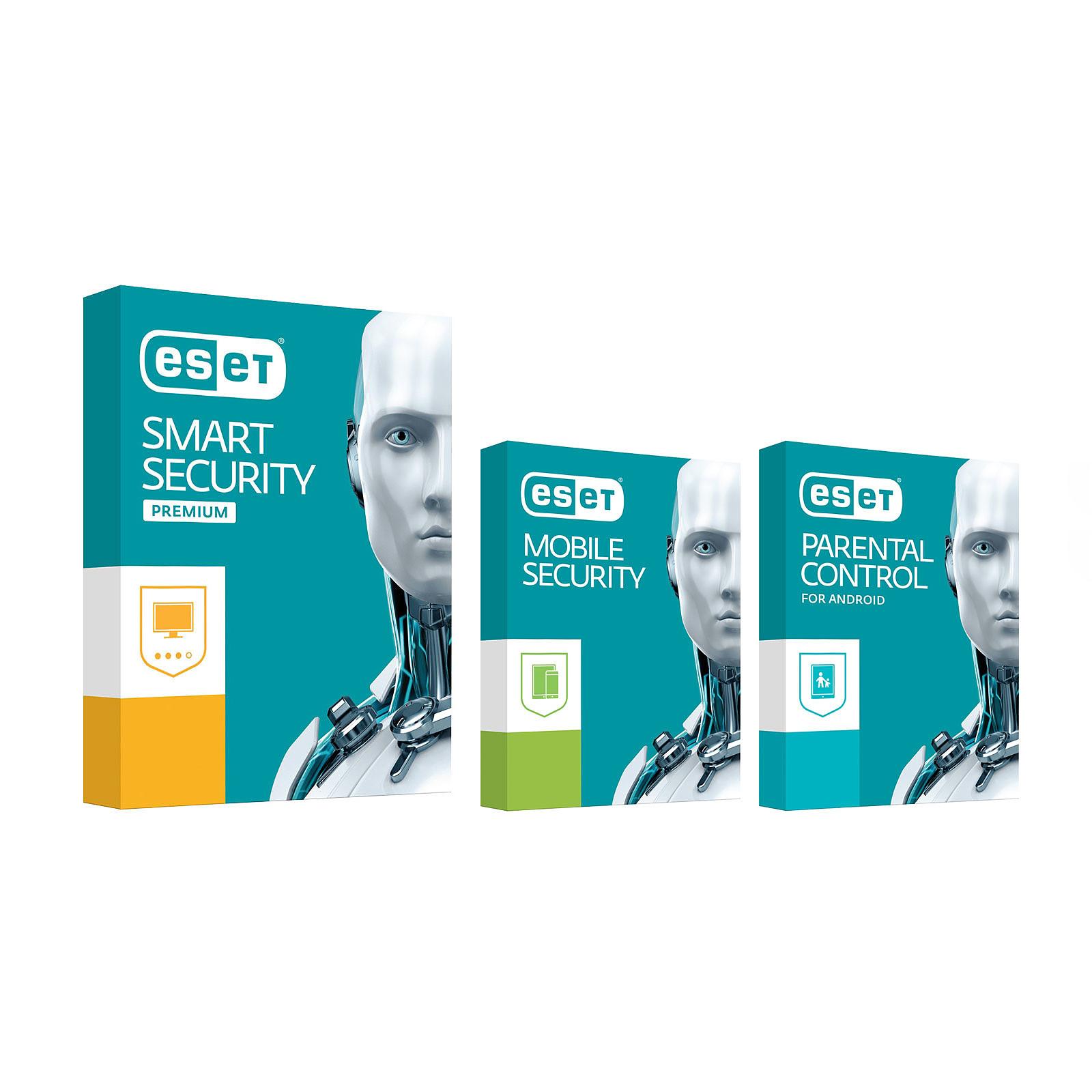 ESET Smart Security Premium 2017 + Mobile Security + Control parental (1 año 3 estaciones de trabajo)