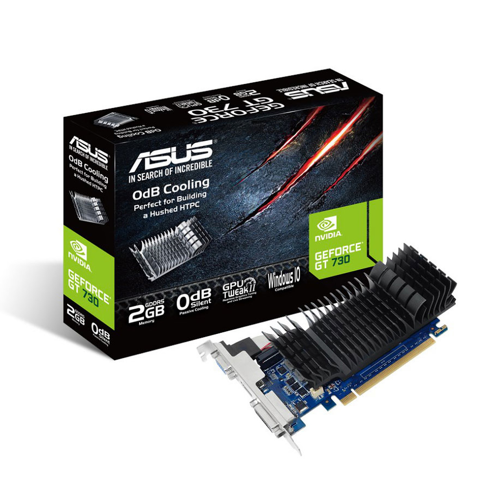 ASUS GT730-SL-2GD5-BRK - GeForce GT 730 2 Go