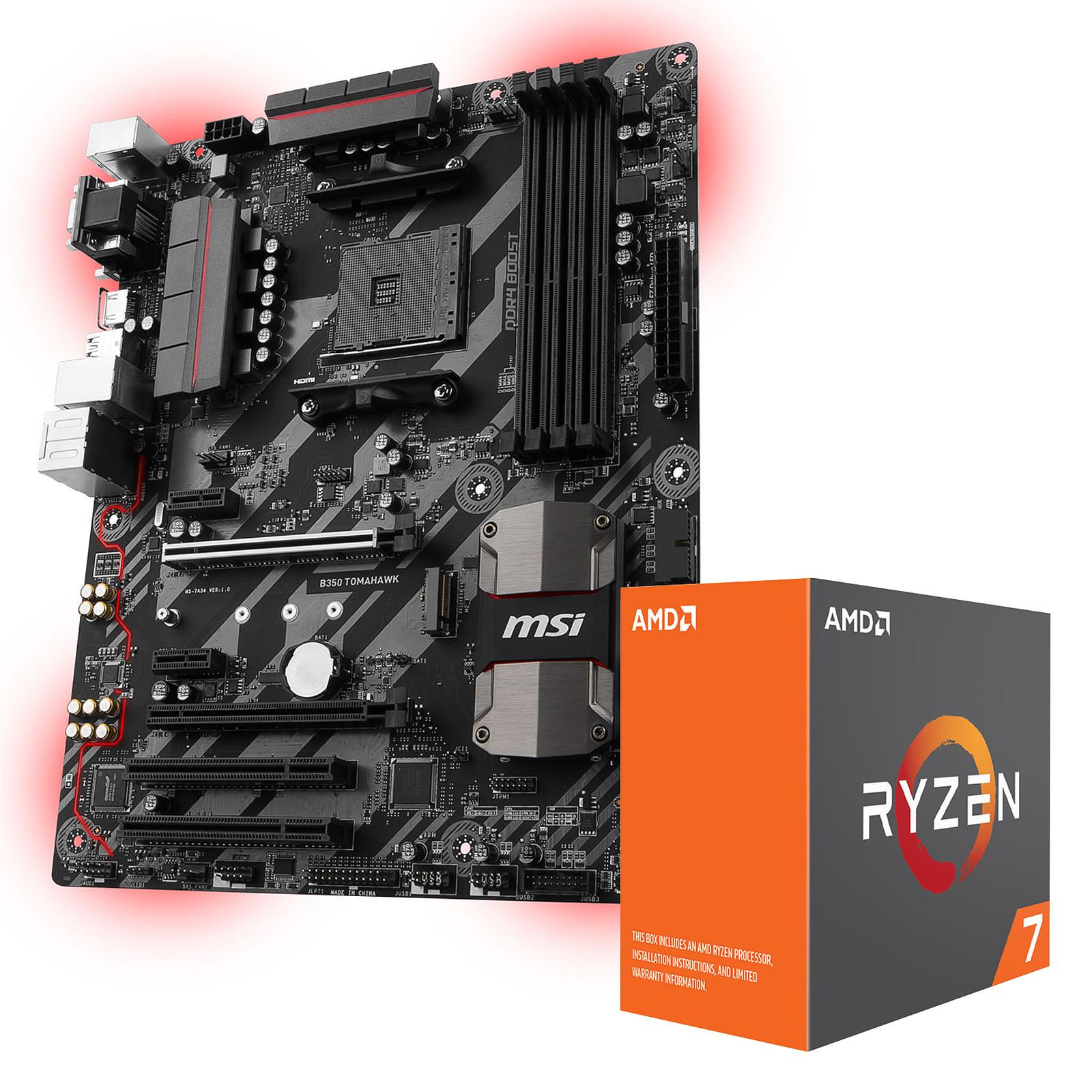 carte mere socket am4 AMD Ryzen 7 1700X (3.4 GHz) + MSI B350 TOMAHAWK   Processeur AMD