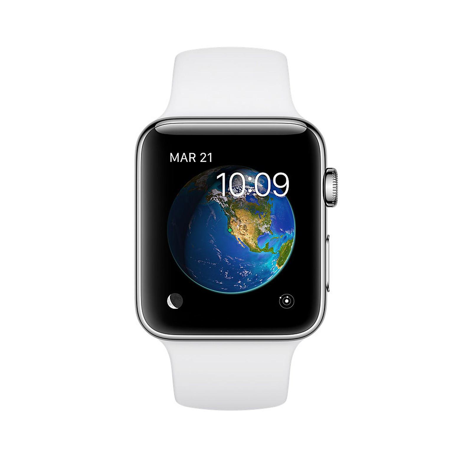 Apple Watch Series 2 Acier Sport Blanc 42 mm