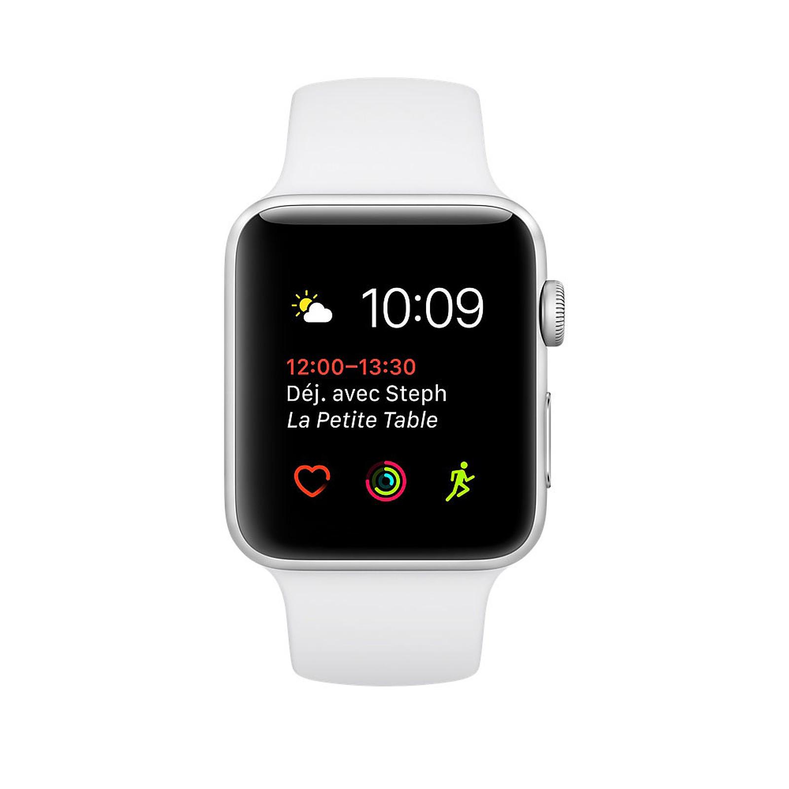 Apple Watch Series 2 Aluminium Argent Sport Blanc 42 mm