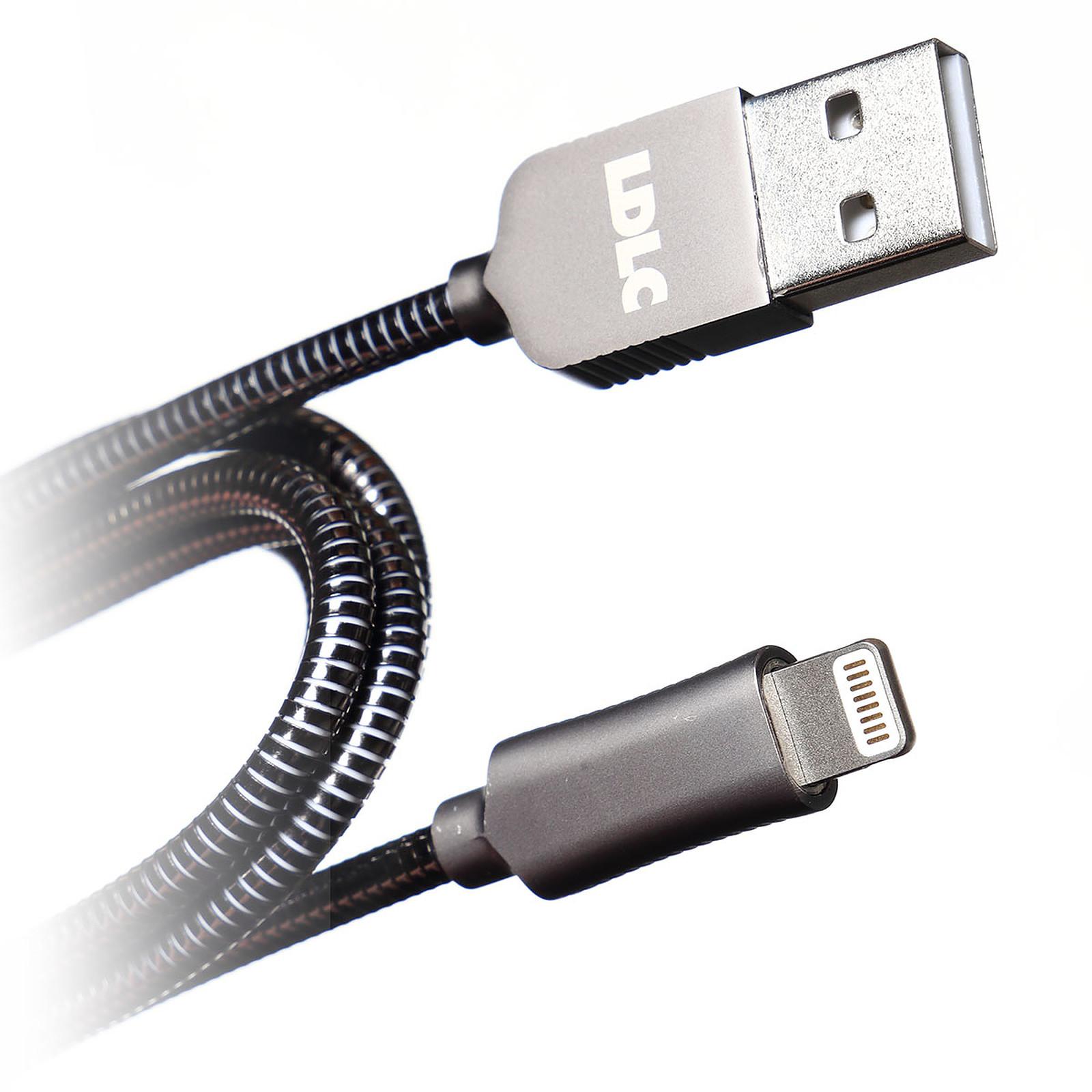 LDLC Câble Métal LT USB/Lightning (certifié MFI) - 1 m