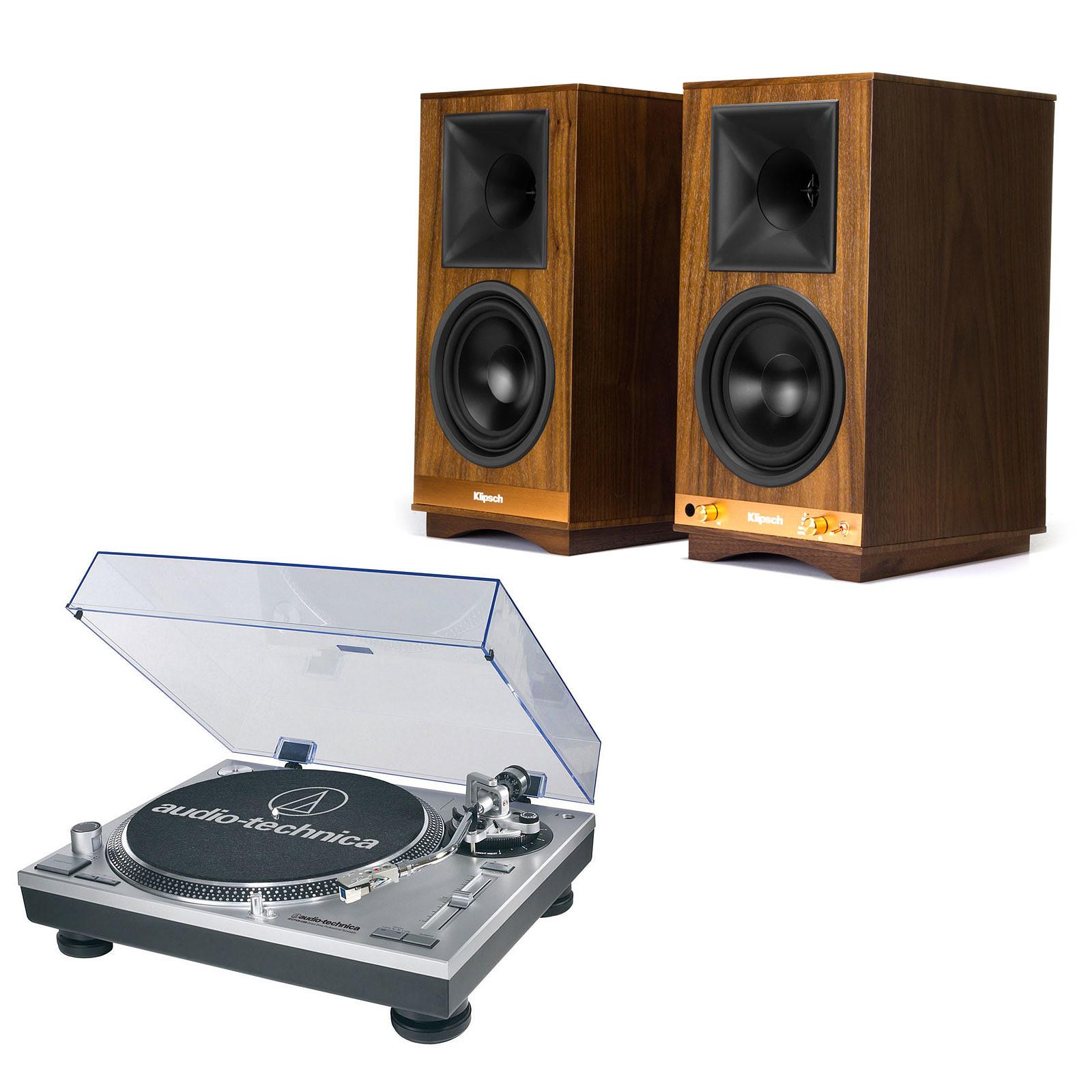 Audio-Technica AT-LP120USBHC + Klipsch The Sixes
