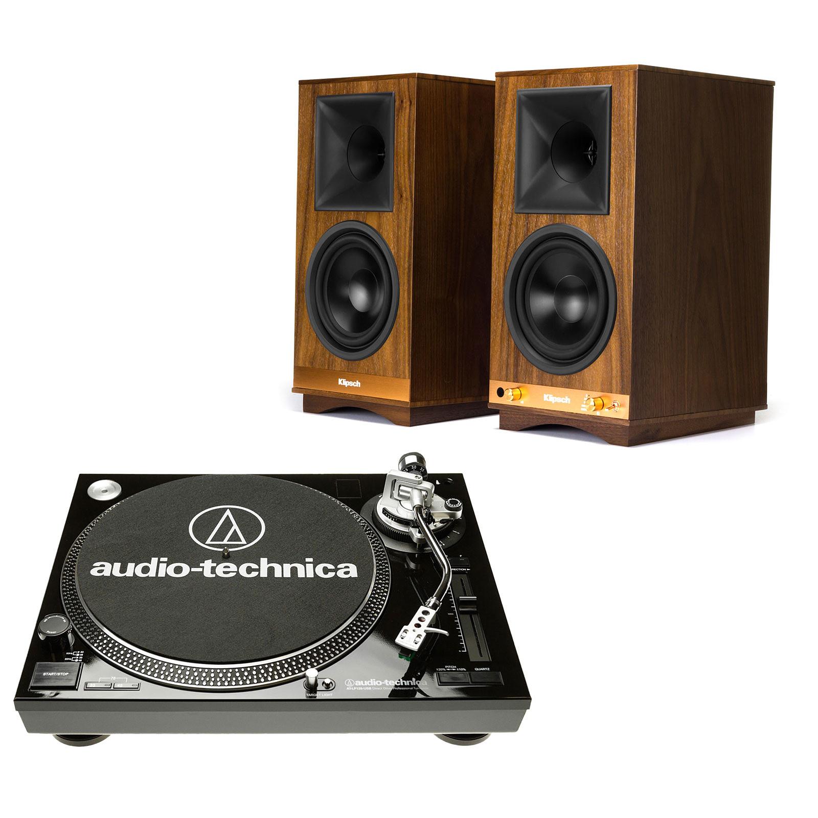 Audio-Technica AT-LP120USBC Noir + Klipsch The Sixes