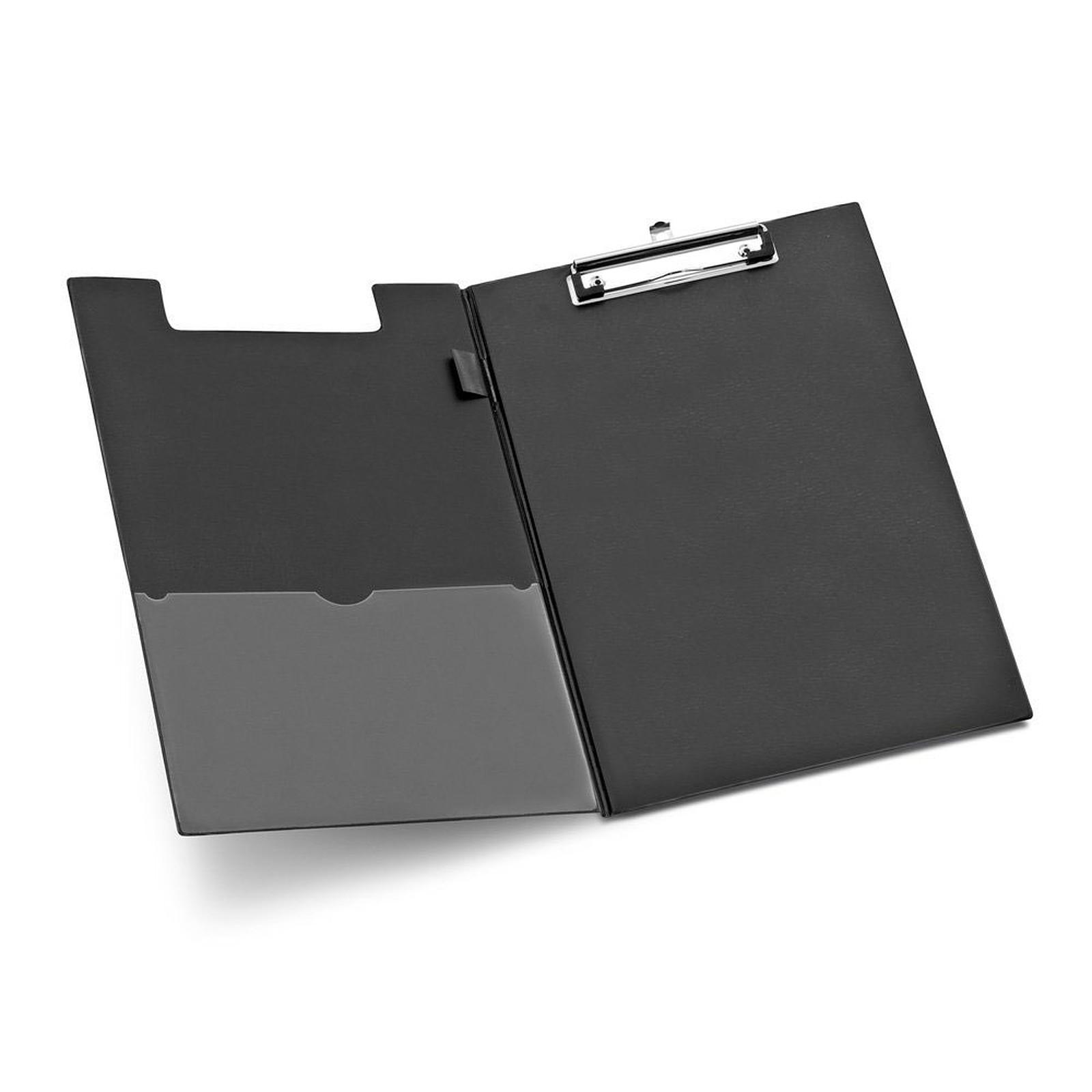 Porte-bloc A4 avec rabat avec pince coloris noir