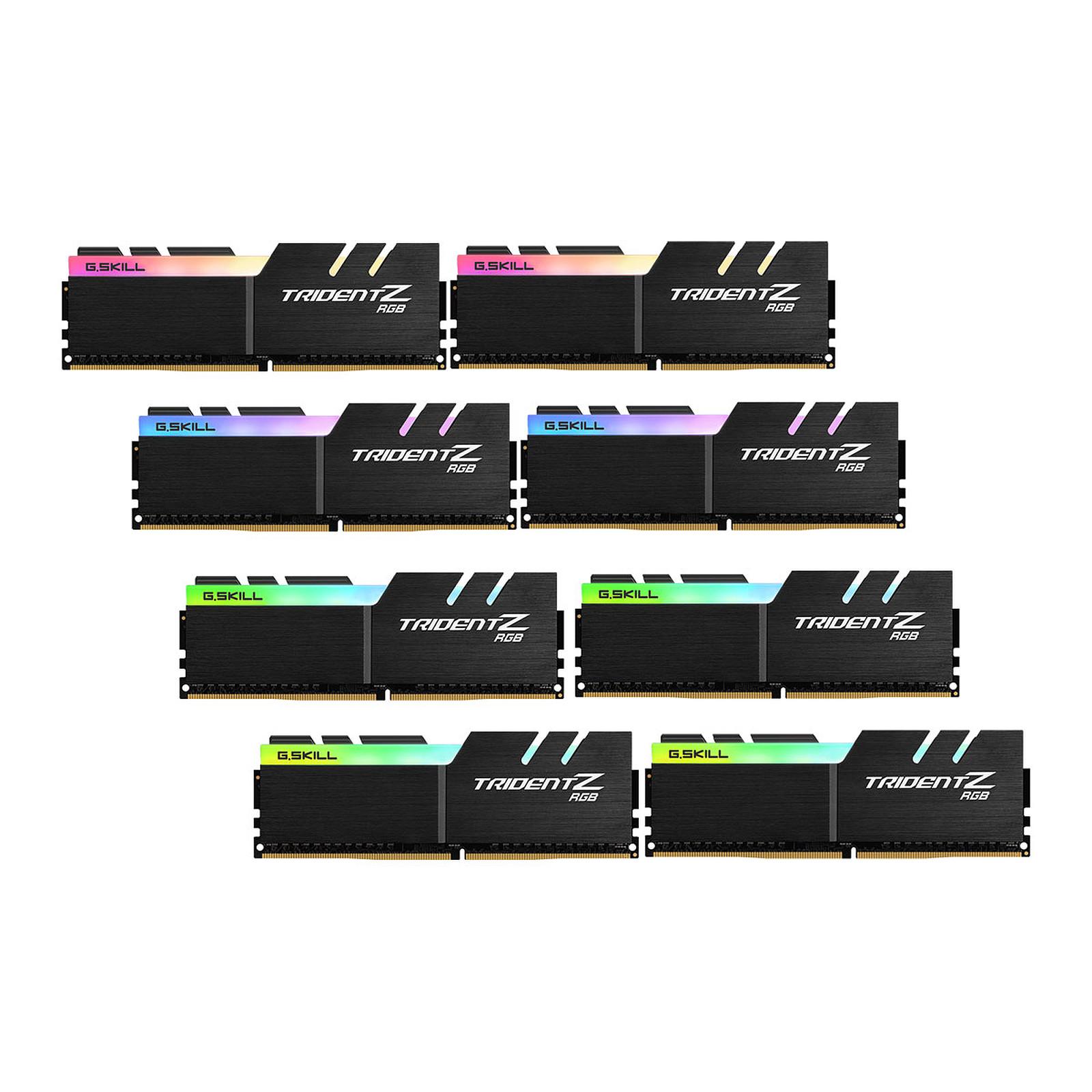 G.Skill Trident Z RGB 64 Go (8x 8 Go) DDR4 4000 MHz CL18