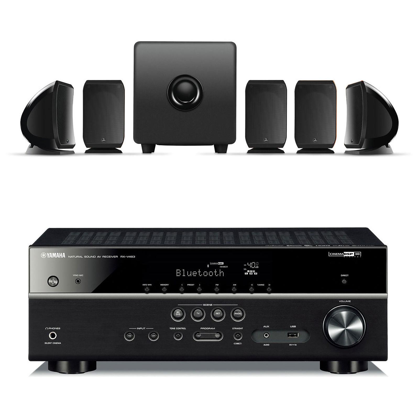 Yamaha MusicCast RX-V483 Noir + FOCAL SIB & CUB 3 JET BLACK