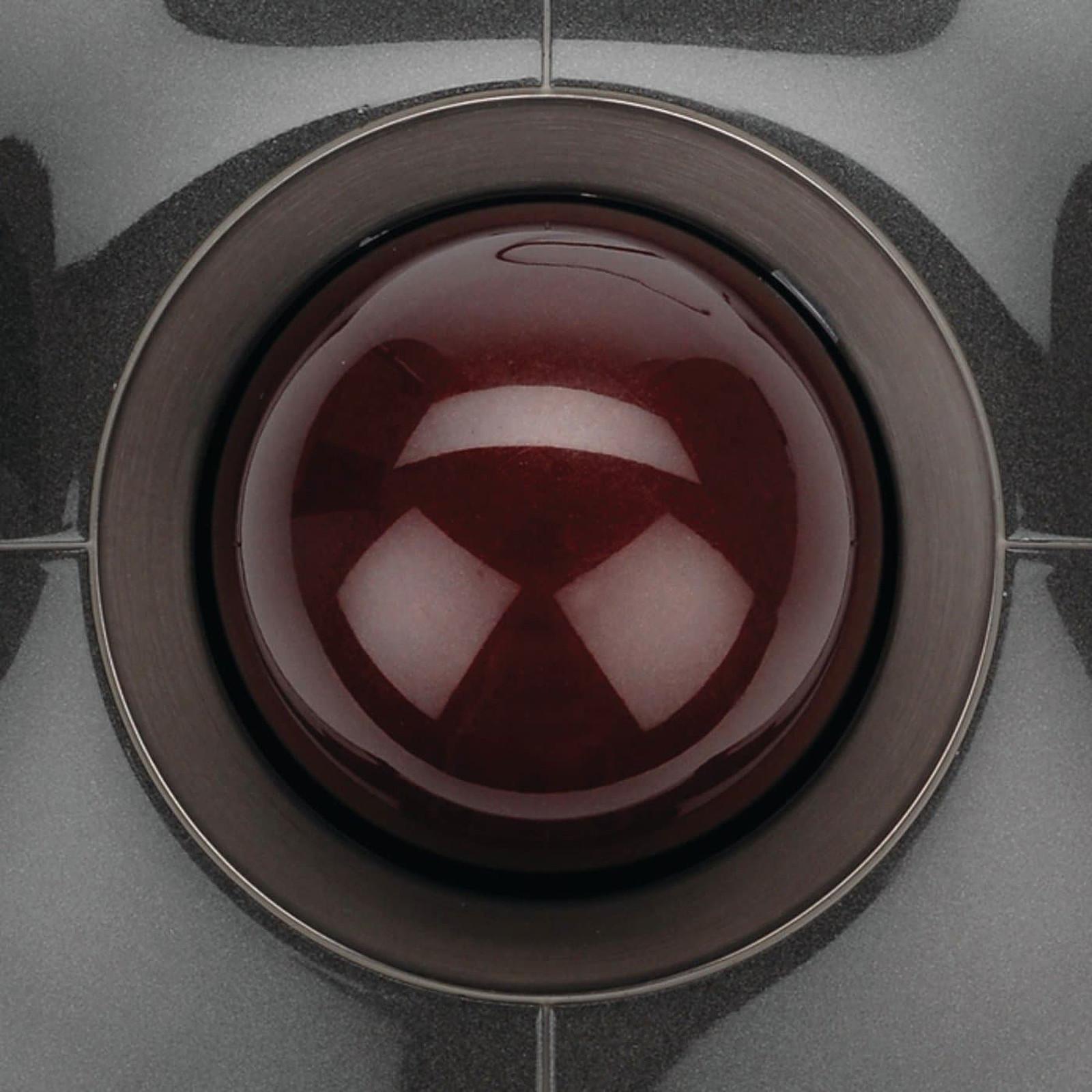filaire Kensington SlimBlade Trackball Laser//optique USB droitiers et gauchers Rouge Rubis Argent m/étallique 4 boutons Boule de commande