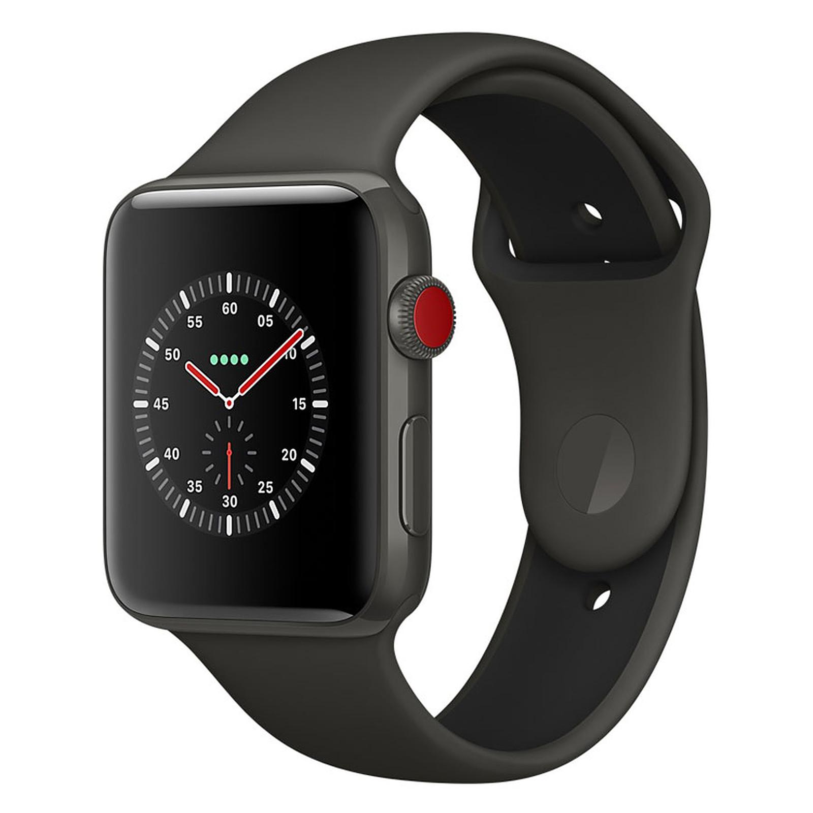 Apple Watch Edition Series 3 GPS + Cellular Céramique Gris Sport Gris/Noir 38 mm