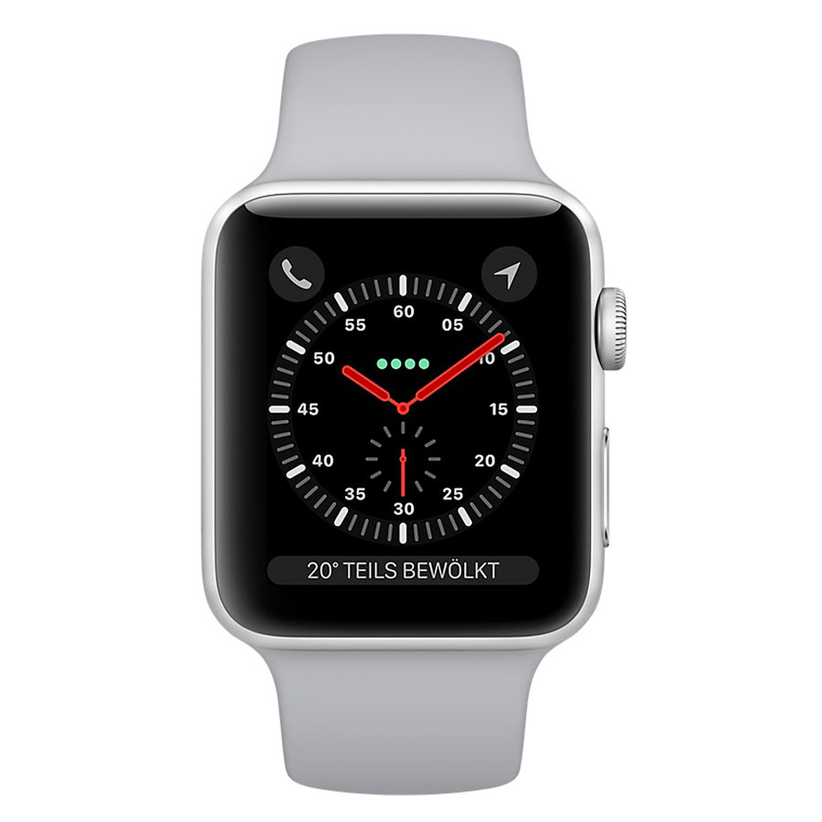 28874b2b6acfc Apple Watch Series 3 GPS + Cellular Aluminium Argent Sport Nuage 42 mm  Montre connectée - · Montre connectée ...