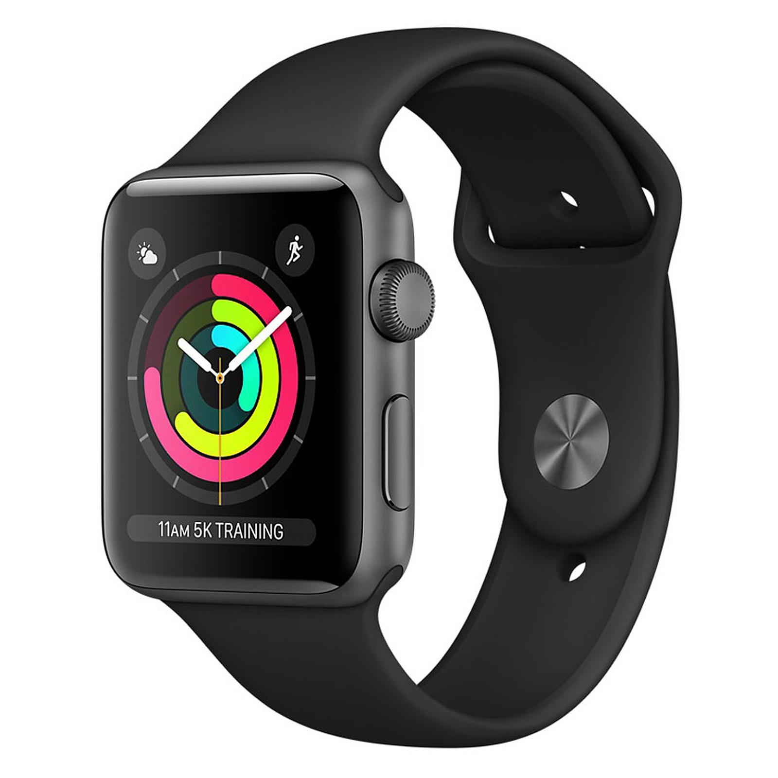Apple Watch Series 3 GPS Aluminium Gris Sport Noir 38 mm
