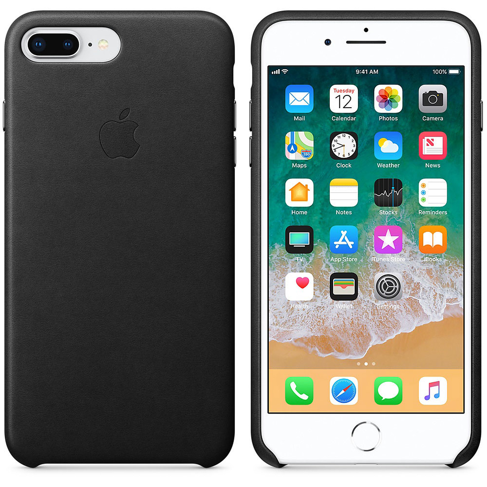 coque iphone 8 noir simple