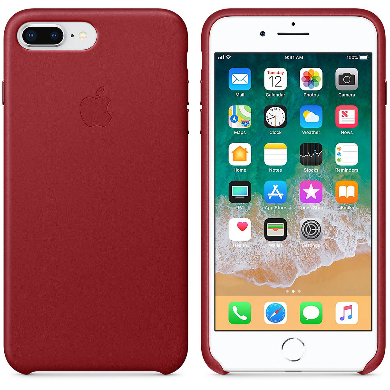 Apple Coque en cuir (PRODUCT)RED Apple iPhone 8 Plus / 7 Plus
