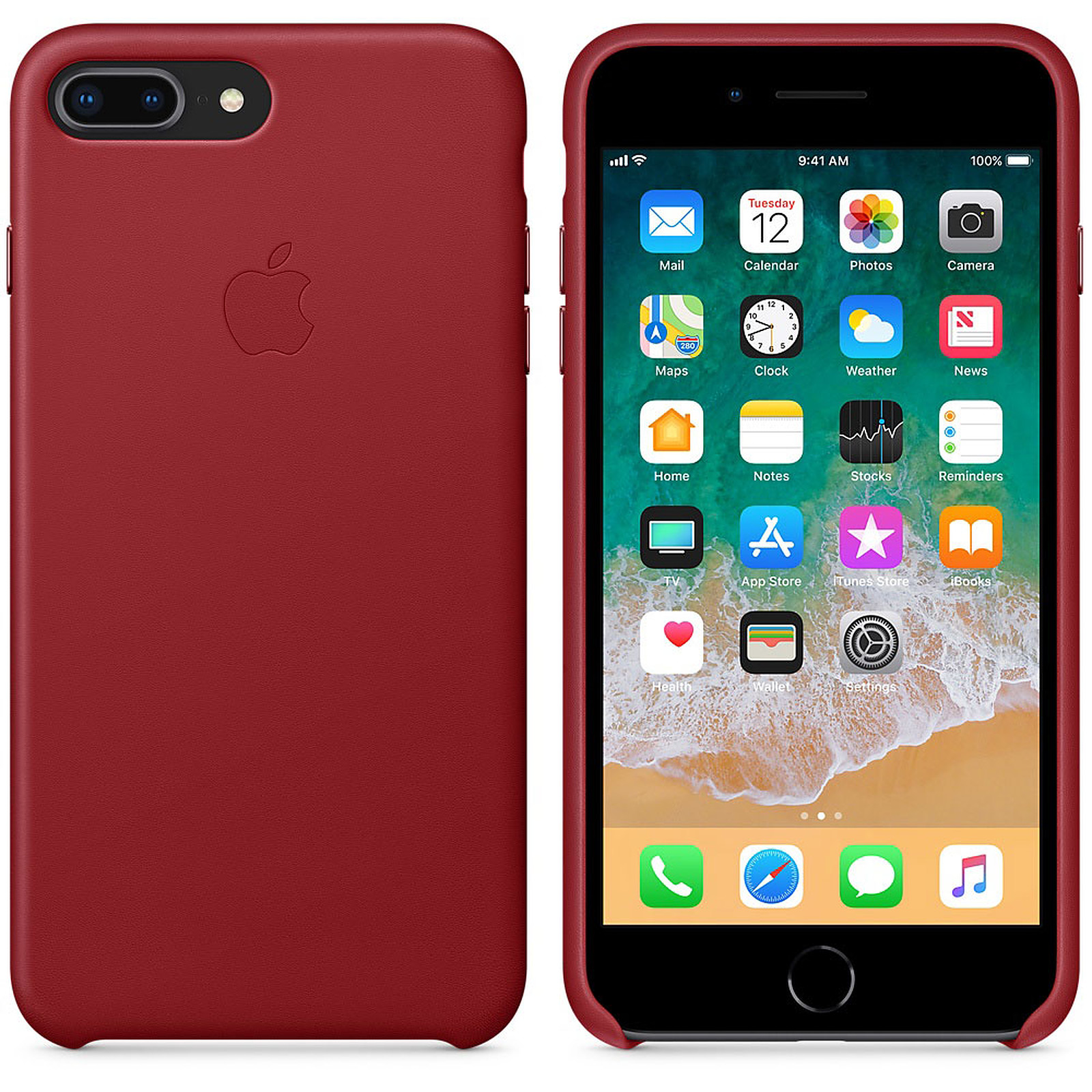 outlet for sale new images of really comfortable Apple Coque en cuir (PRODUCT)RED Apple iPhone 8 Plus / 7 Plus