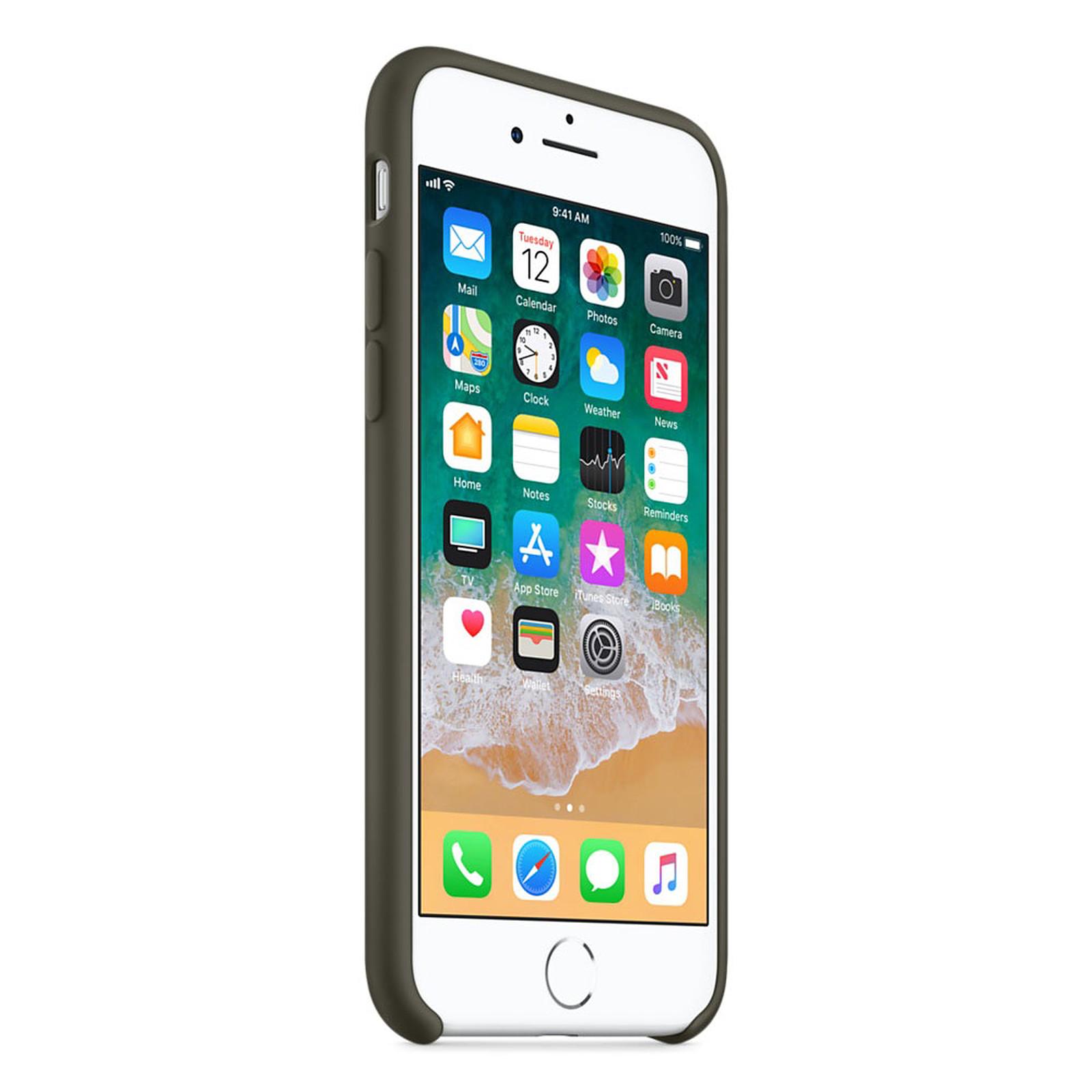 Apple Coque en silicone Olive Sombre Apple iPhone 8 / 7 - Coque ...