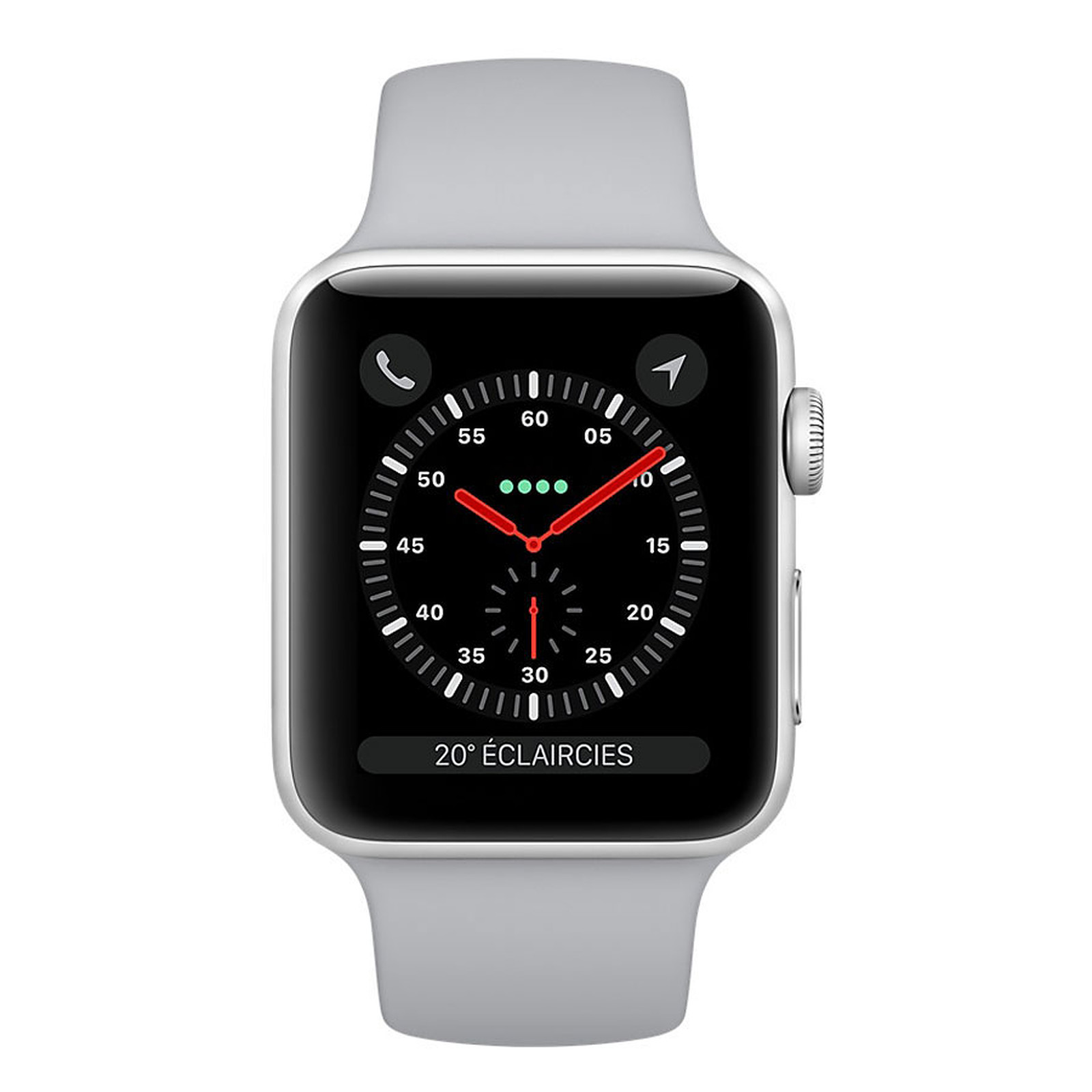 Apple Watch Series 3 GPS Aluminium Argent Sport Nuage 42 mm