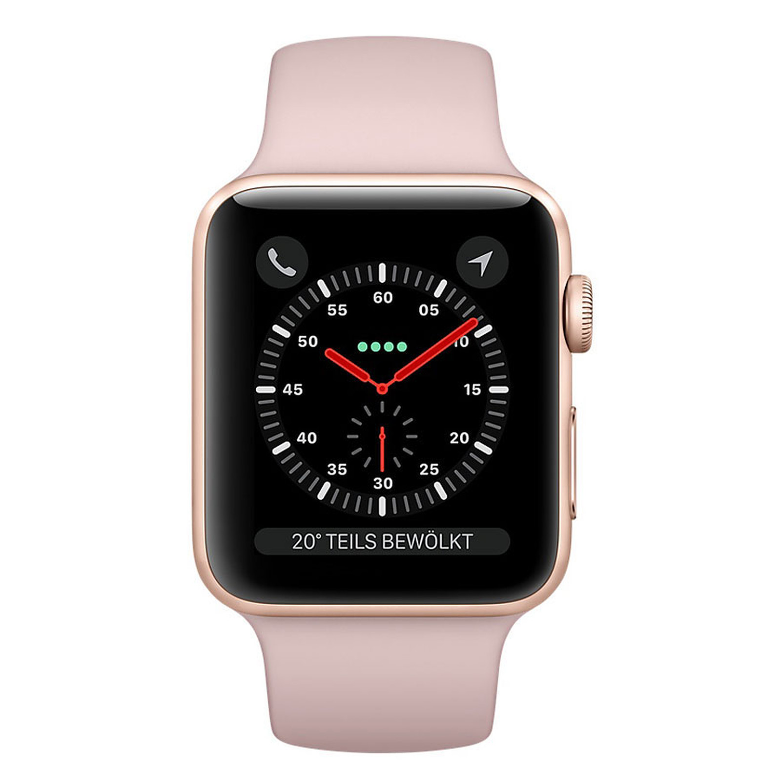 Apple Watch Series 3 GPS Aluminium Or Sport Rose 42 mm