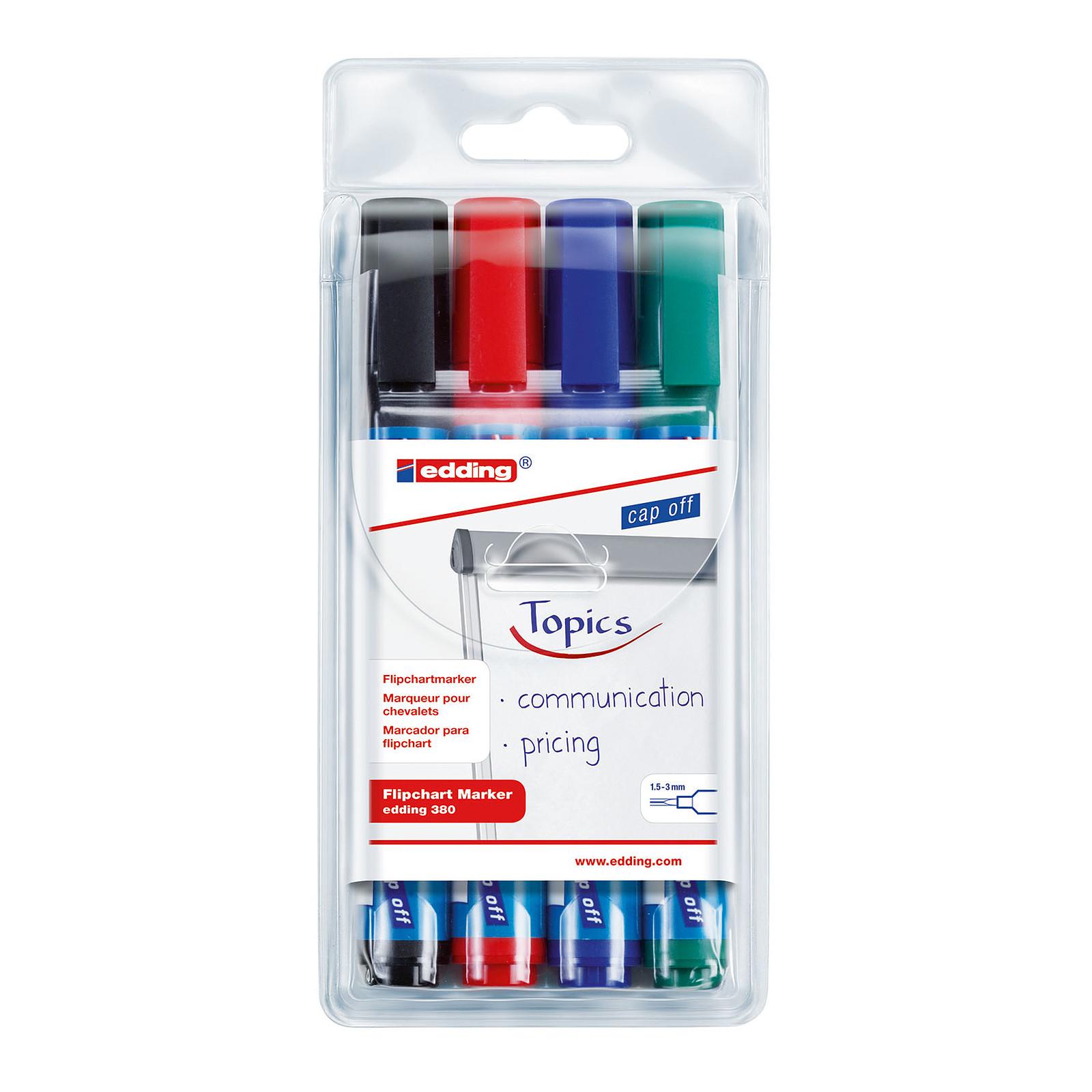 Edding 380 - set de 4 couleurs