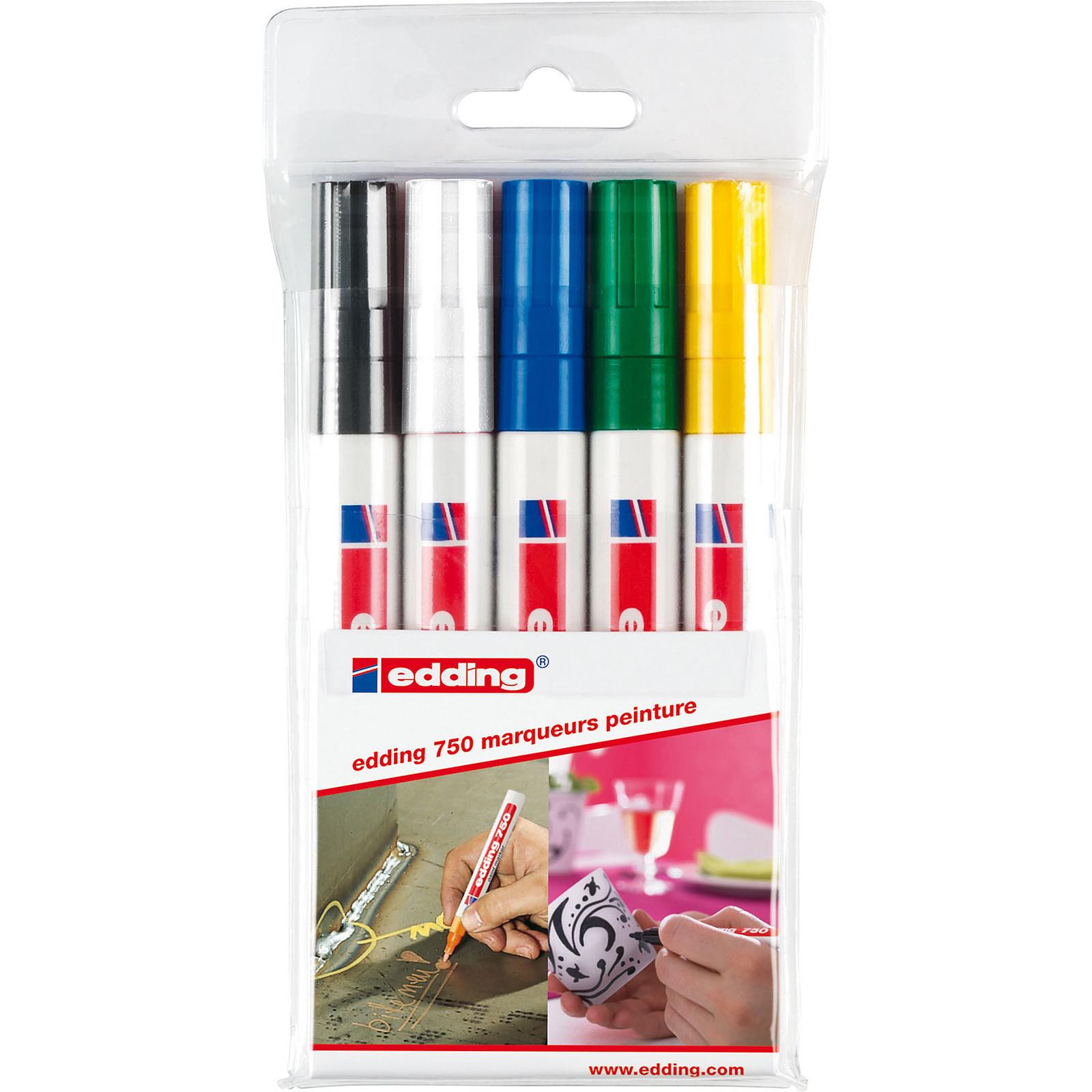Edding 750 - set de 5 couleurs